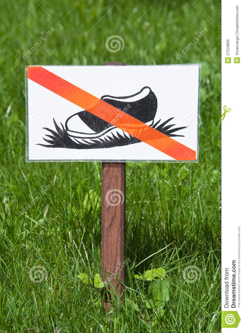 keep off the grass sign stock image image of nature