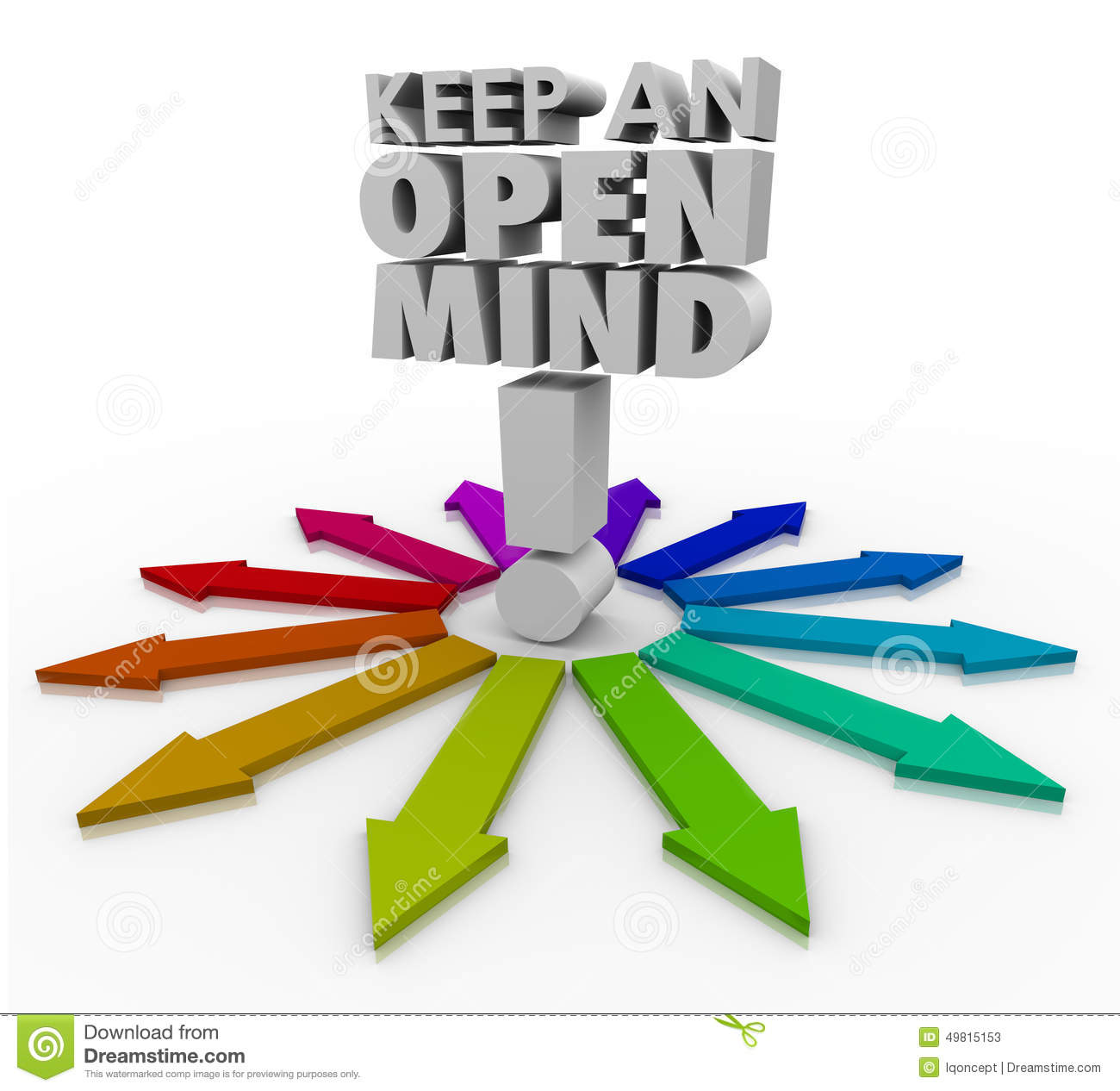 keep an open mind 3d words accepting new ideas non brainstorming clip art free Office Clip Art