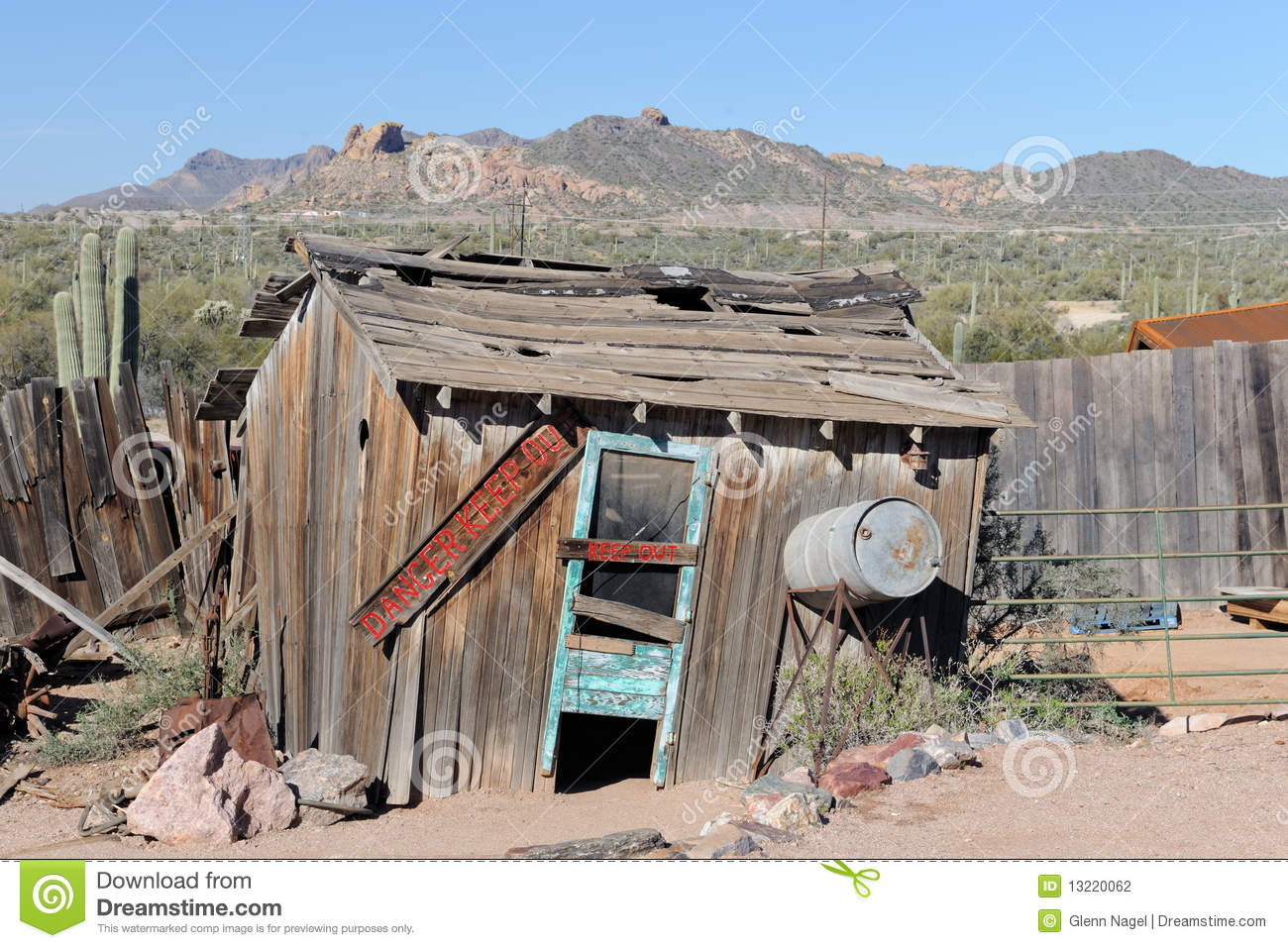 Keep Out Of Old Shack Stock Photography Image 13220062