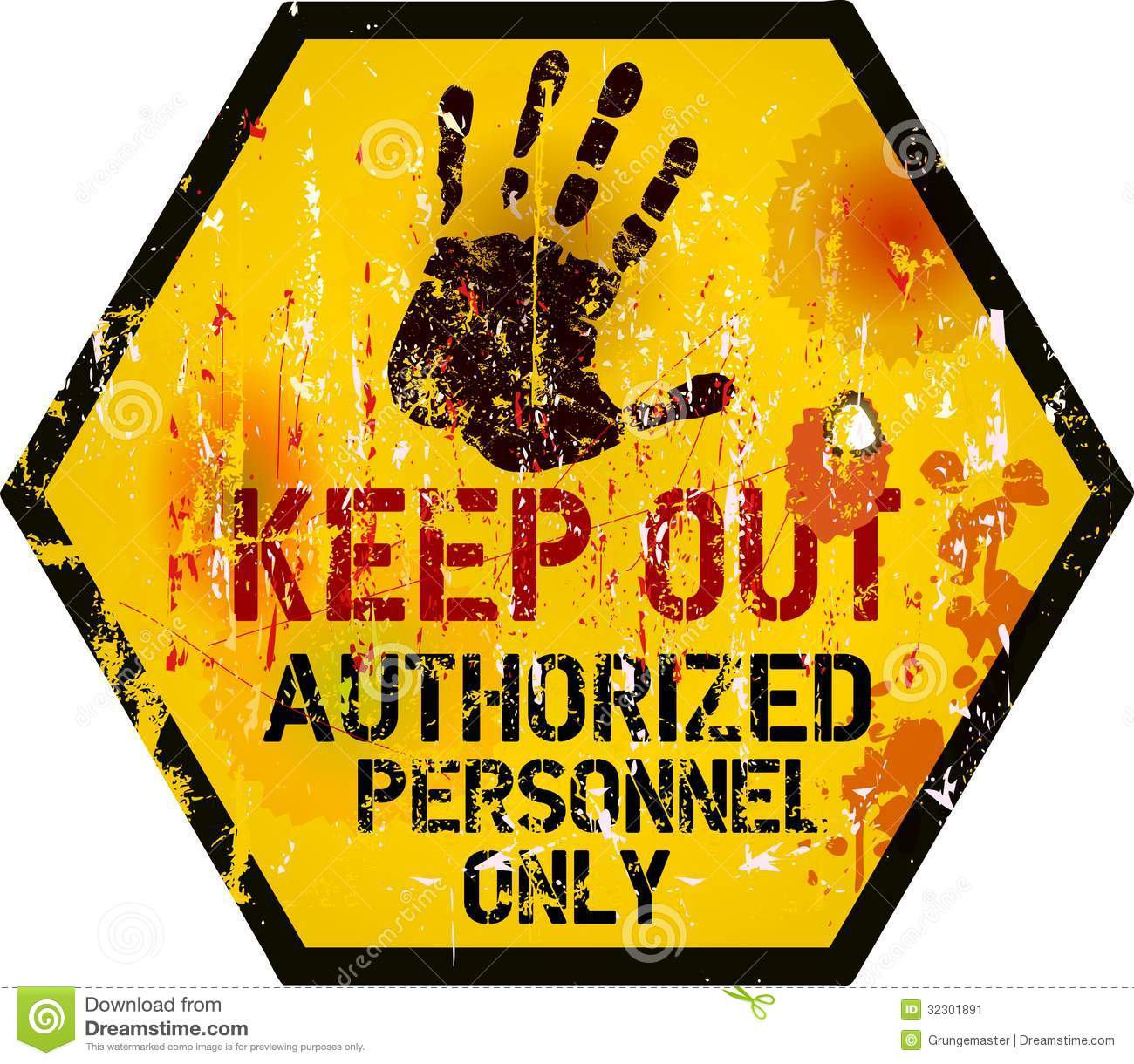Keep Out Sign Stock Vector Illustration Of Safe