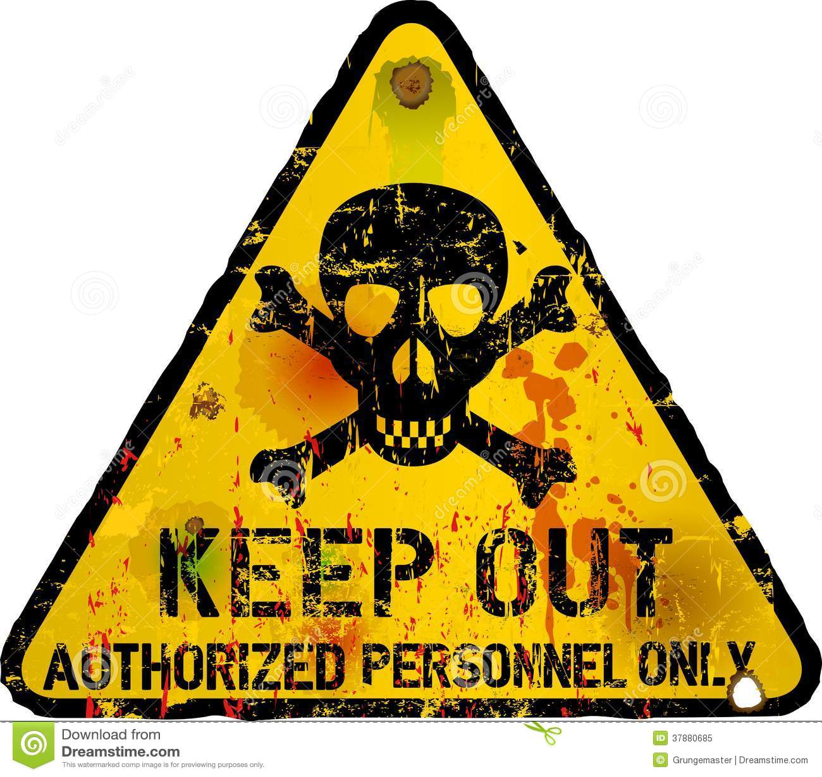 Keep Out Sign Warning Royalty Free Stock Photo Image