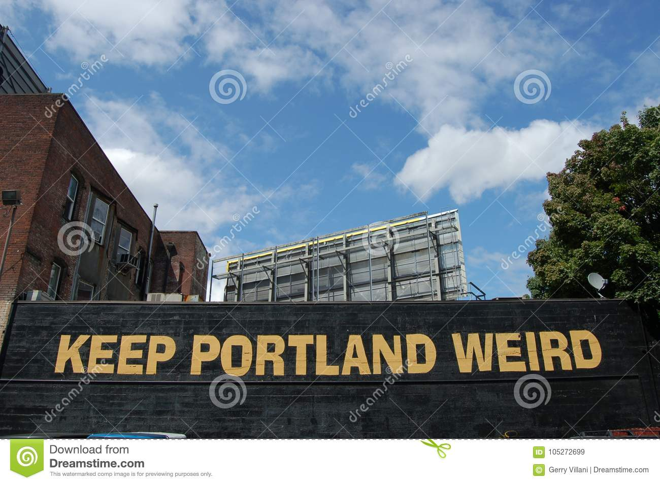 Keep Portland Oregon Weird Sign
