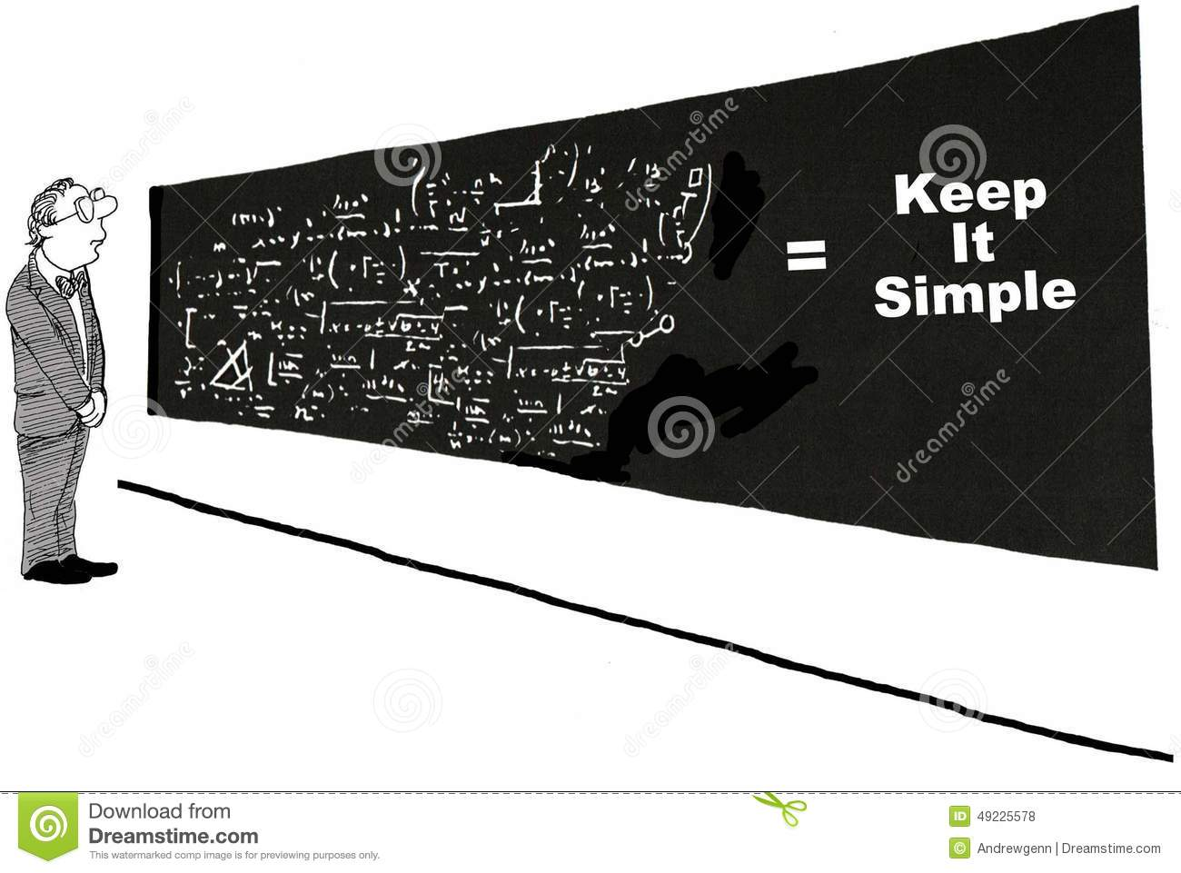 keep it simple stock illustration  image of college  difficult