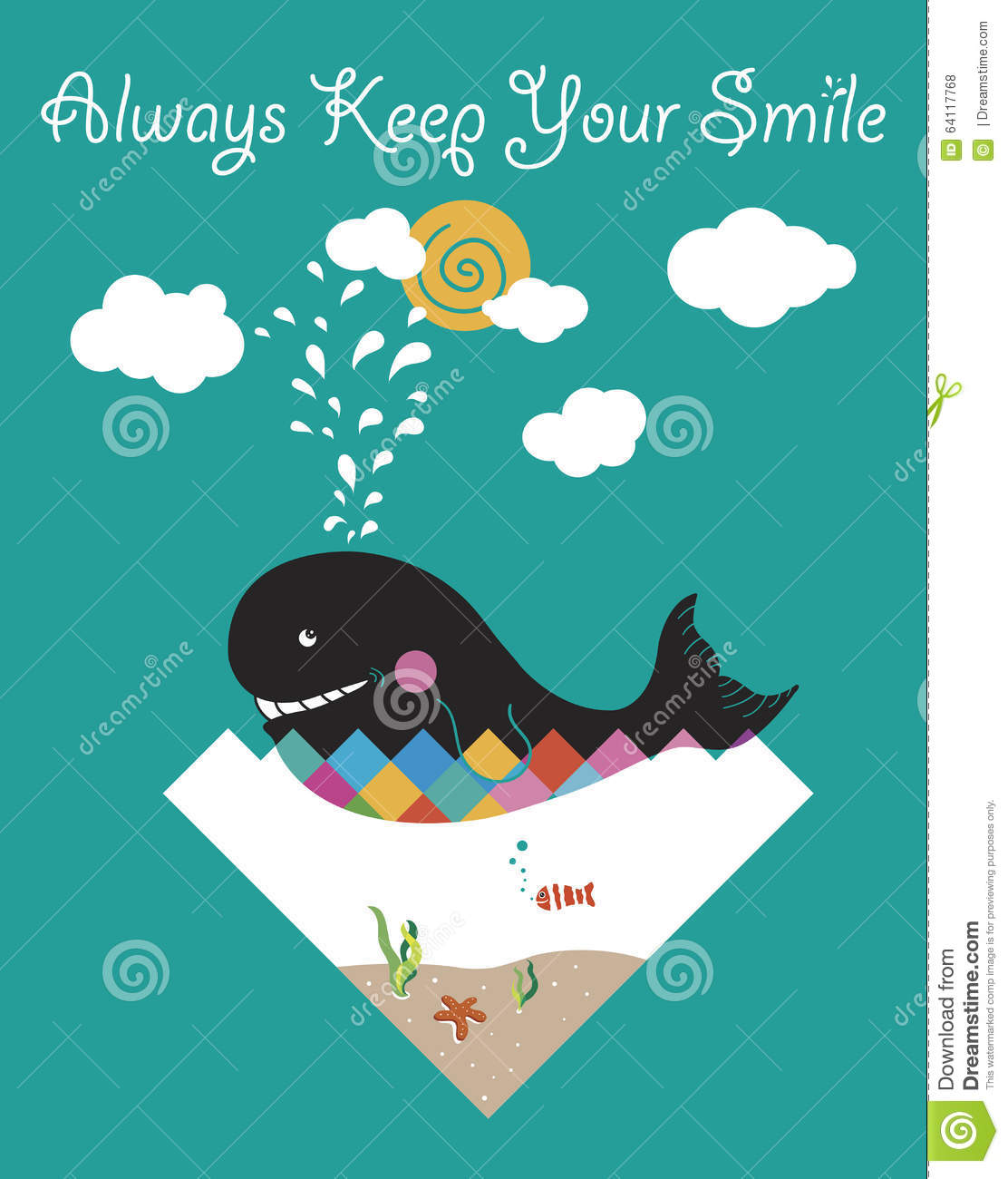 Quote Everyone Should Smile: Always Keep Your Smile Stock Illustration