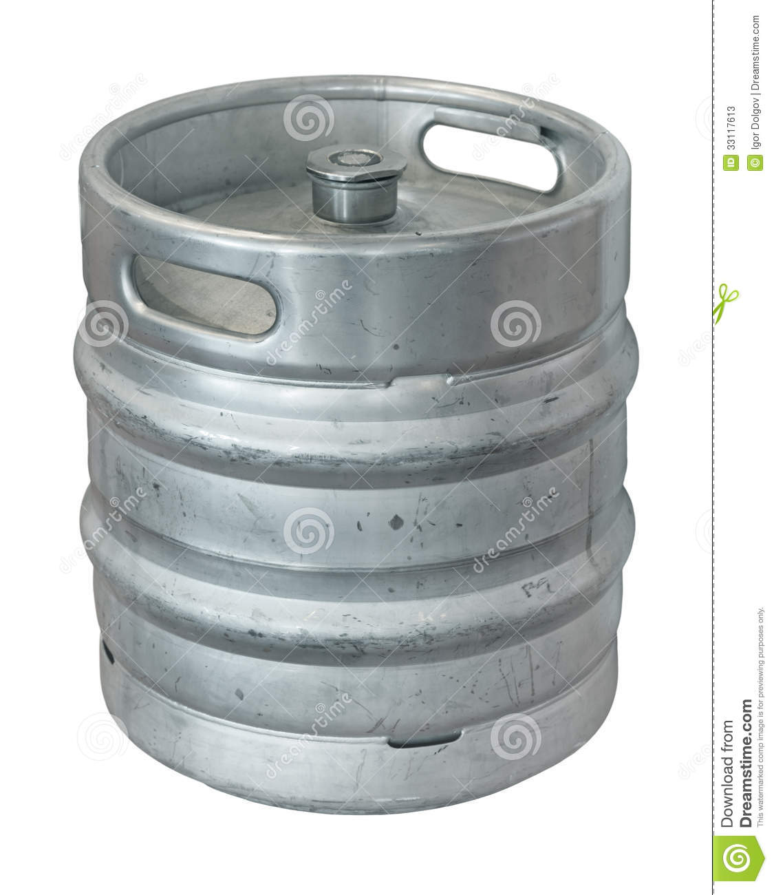 Beer keg  isolated on white background Beer Keg