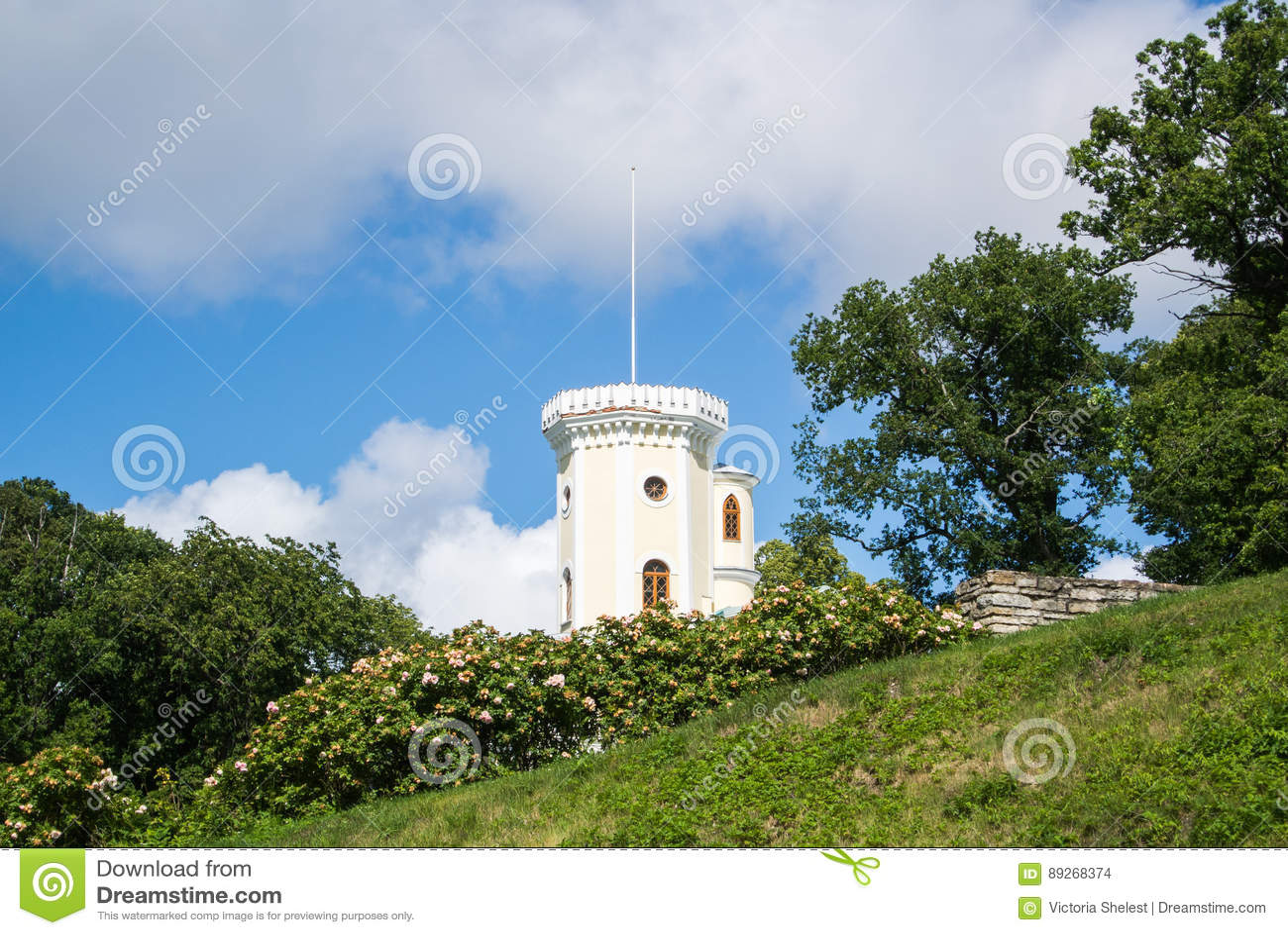 Keila-Joa rezydenci ziemskiej Schloss spadek, xix wiek budynek blisko Keila-Joa siklawy i park,