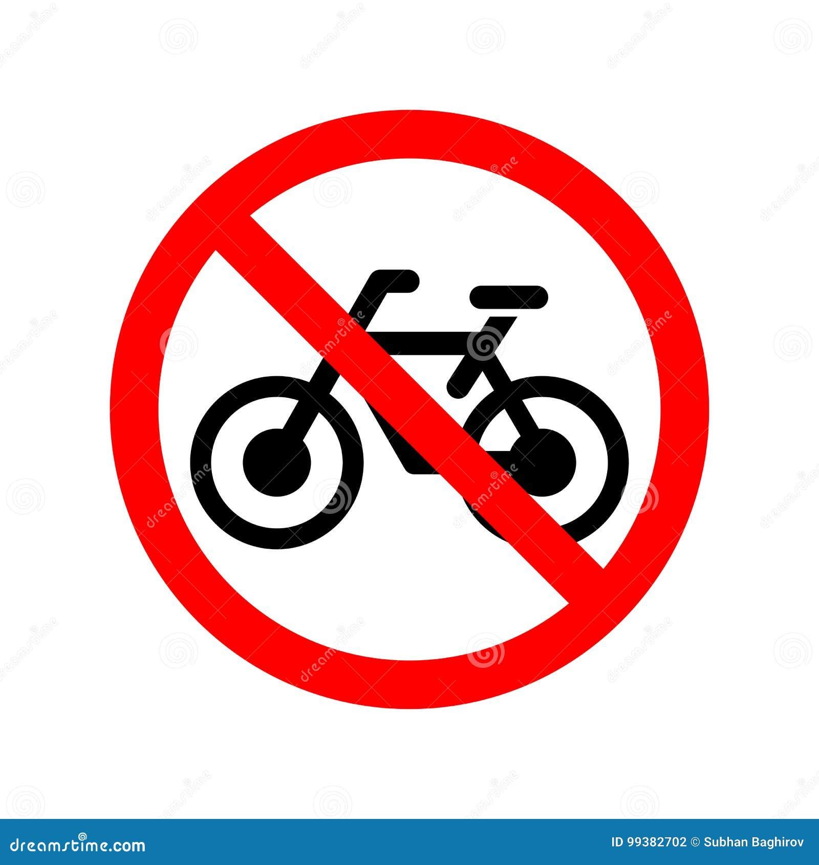 Kein Fahrrad erlaubtes Zeichen
