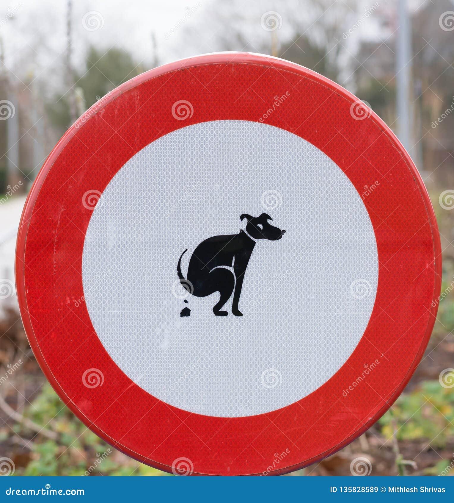 Kein Hundeheck - Zeichen, Parks in Belgien sauber zu halten