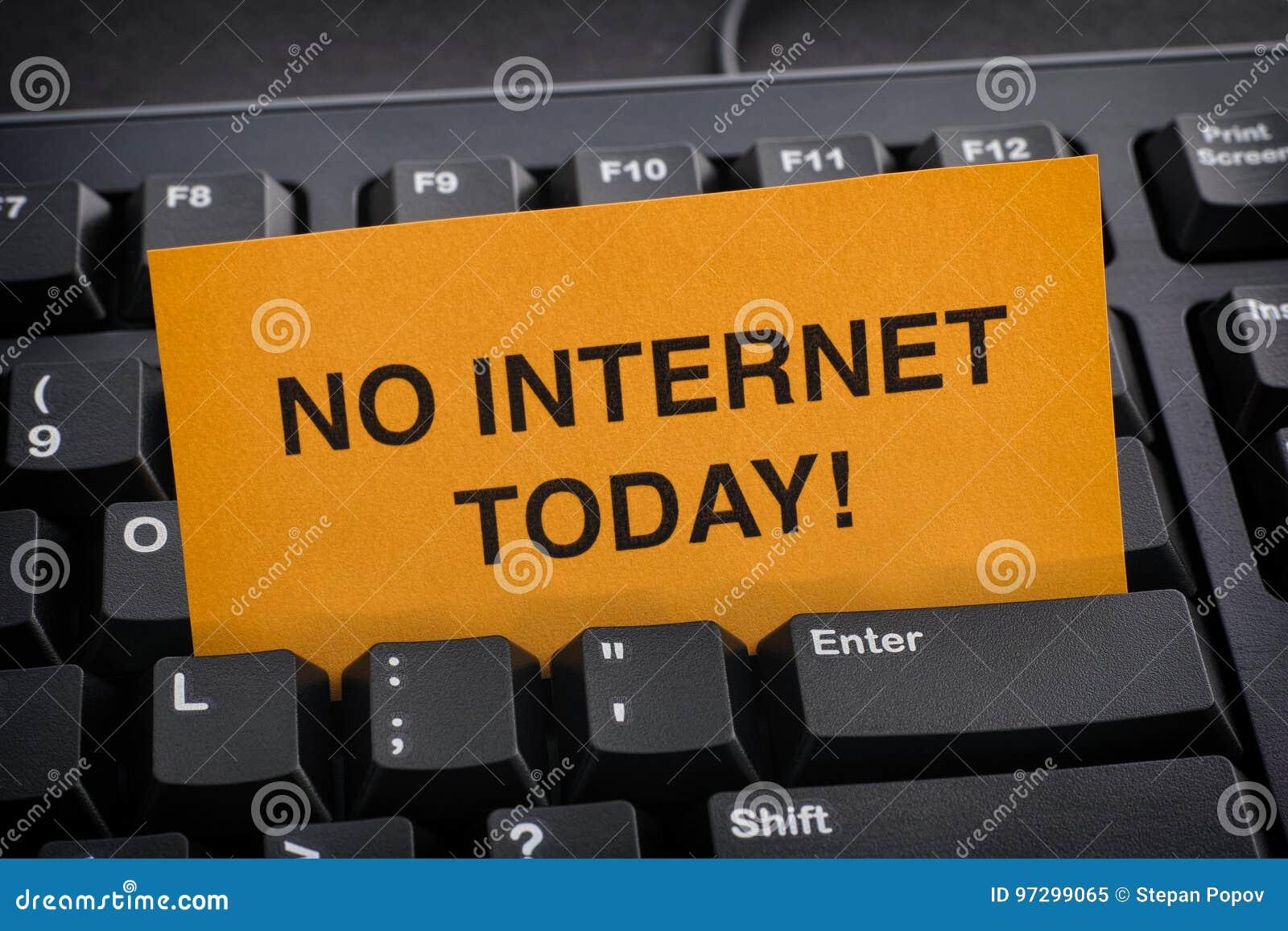 Kein Internet für heute!