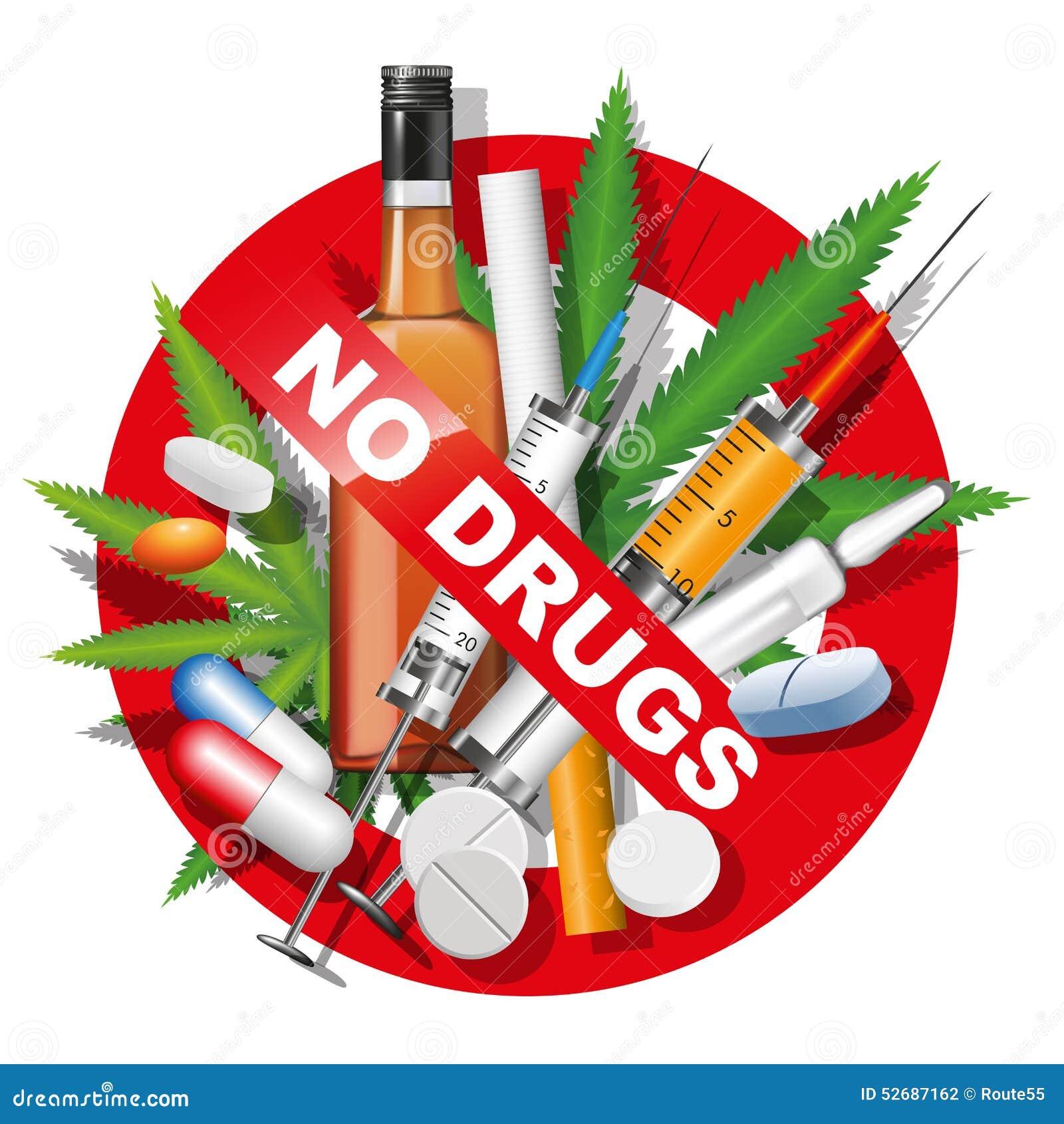 Keine Drogen Vektor Abbildung - Bild: 52687162