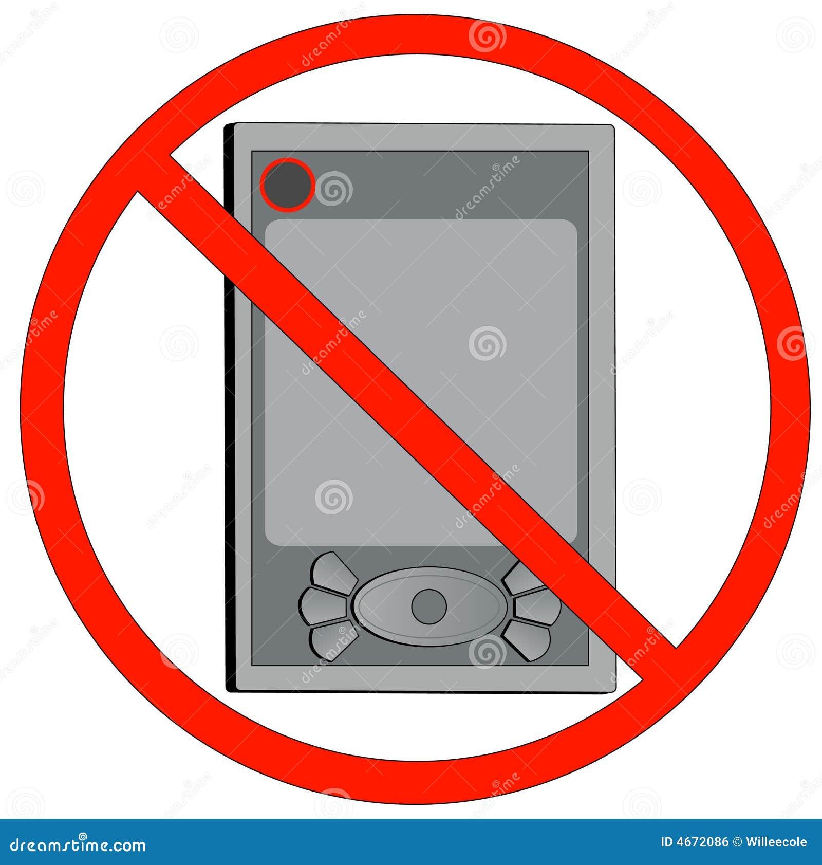 Keine Elektronischen Geräte Erlaubt Vektor Abbildung - Illustration ...