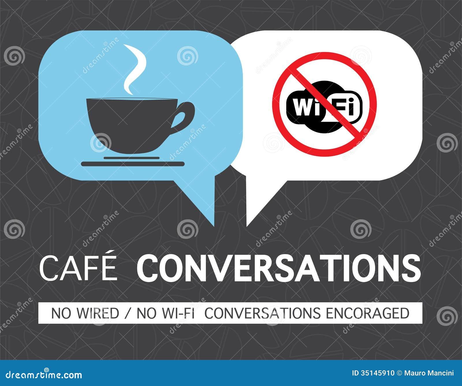 Keine wifi Kaffeetasse-Konzeptillustration
