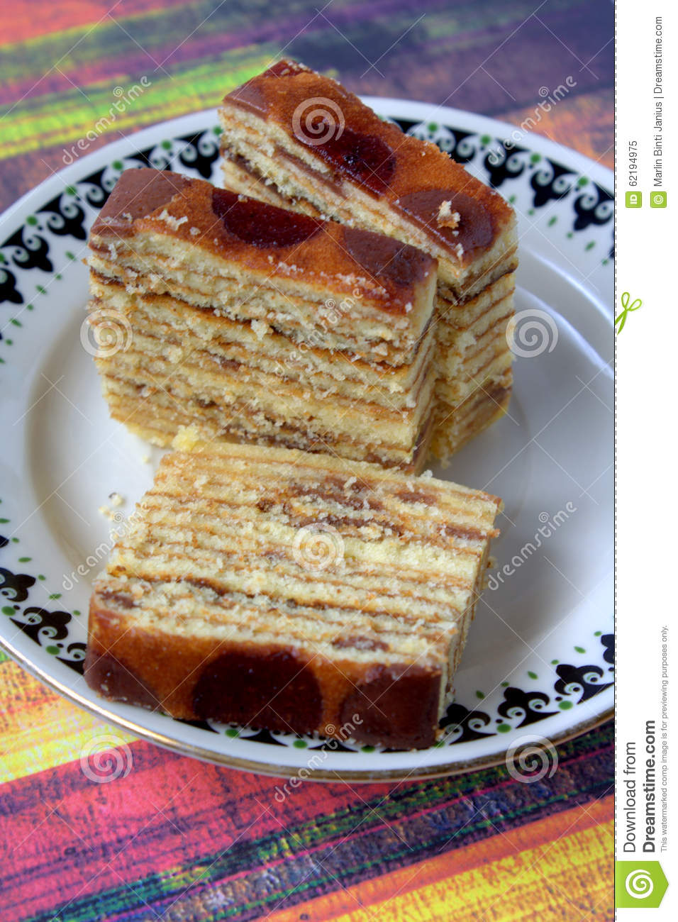 Kek Lapis Malaysian Dessert Stock Photo Image 62194975