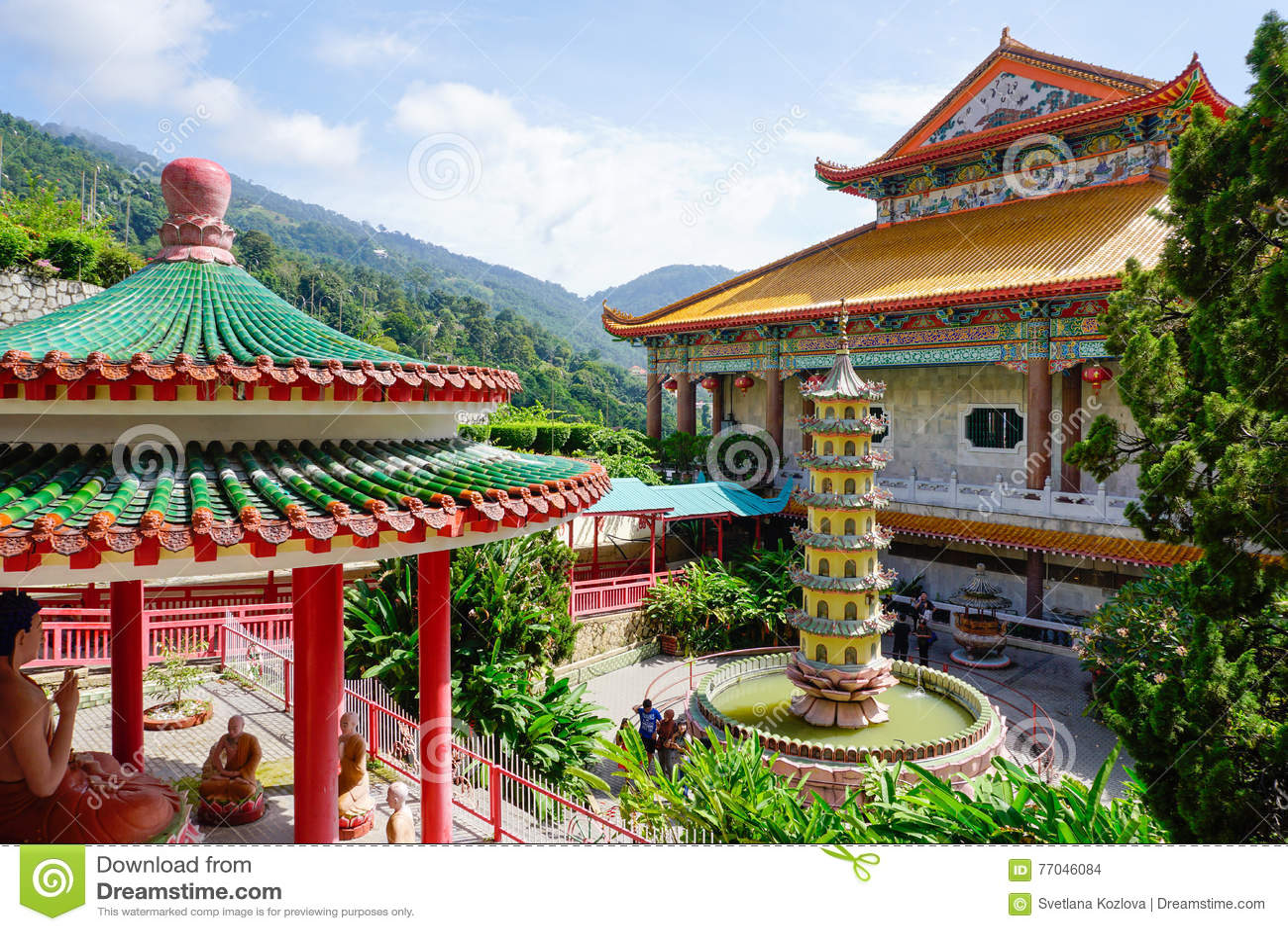 Kek Lok Si świątynia w Georgetown na Penang wyspie, Malezja