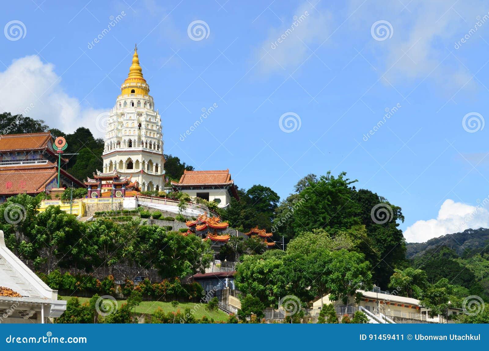 Kek Lok Si, kinesisk buddistisk tempel på Penang, Malaysia