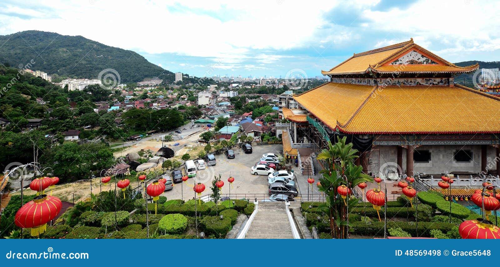 Kek Lok Si tempel in i luft Itam, Penang