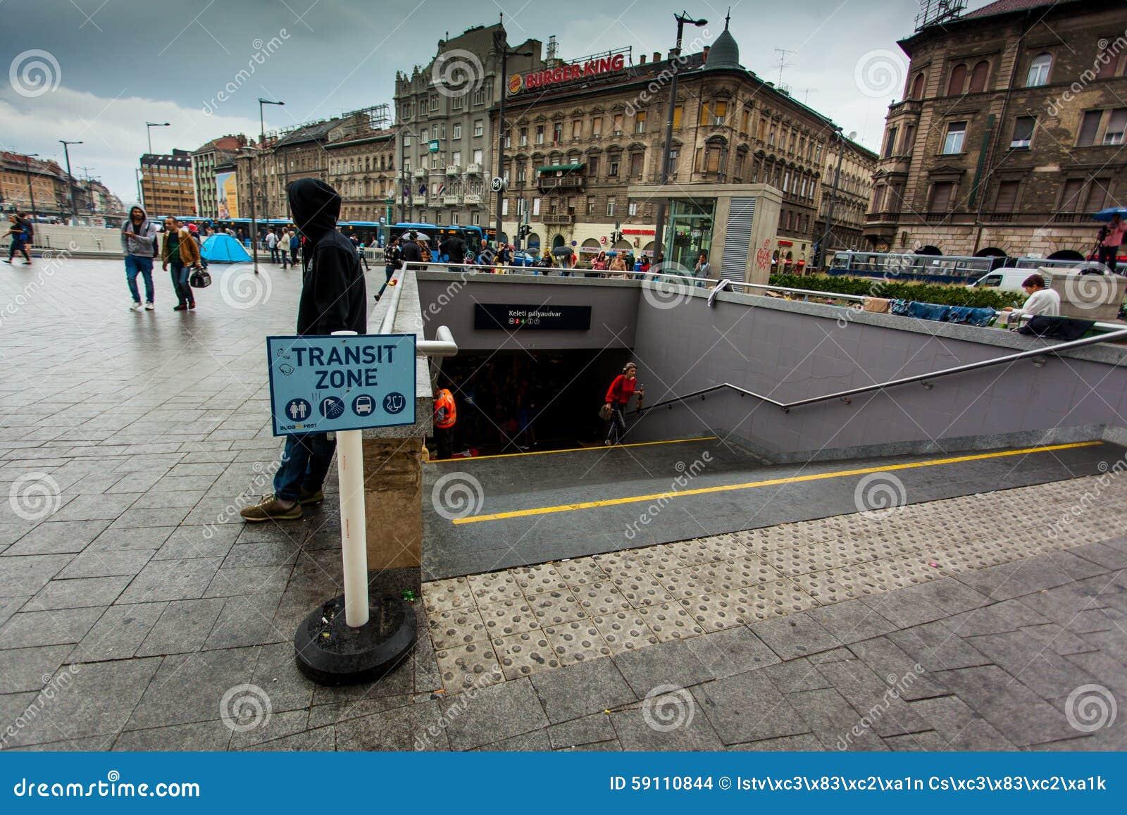 Keleti火车站的战争难民