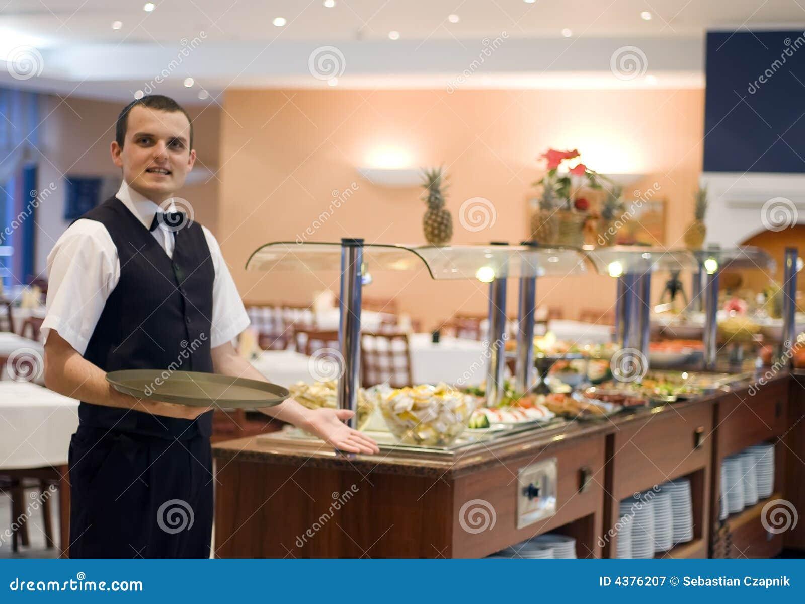 Kellner und Buffet
