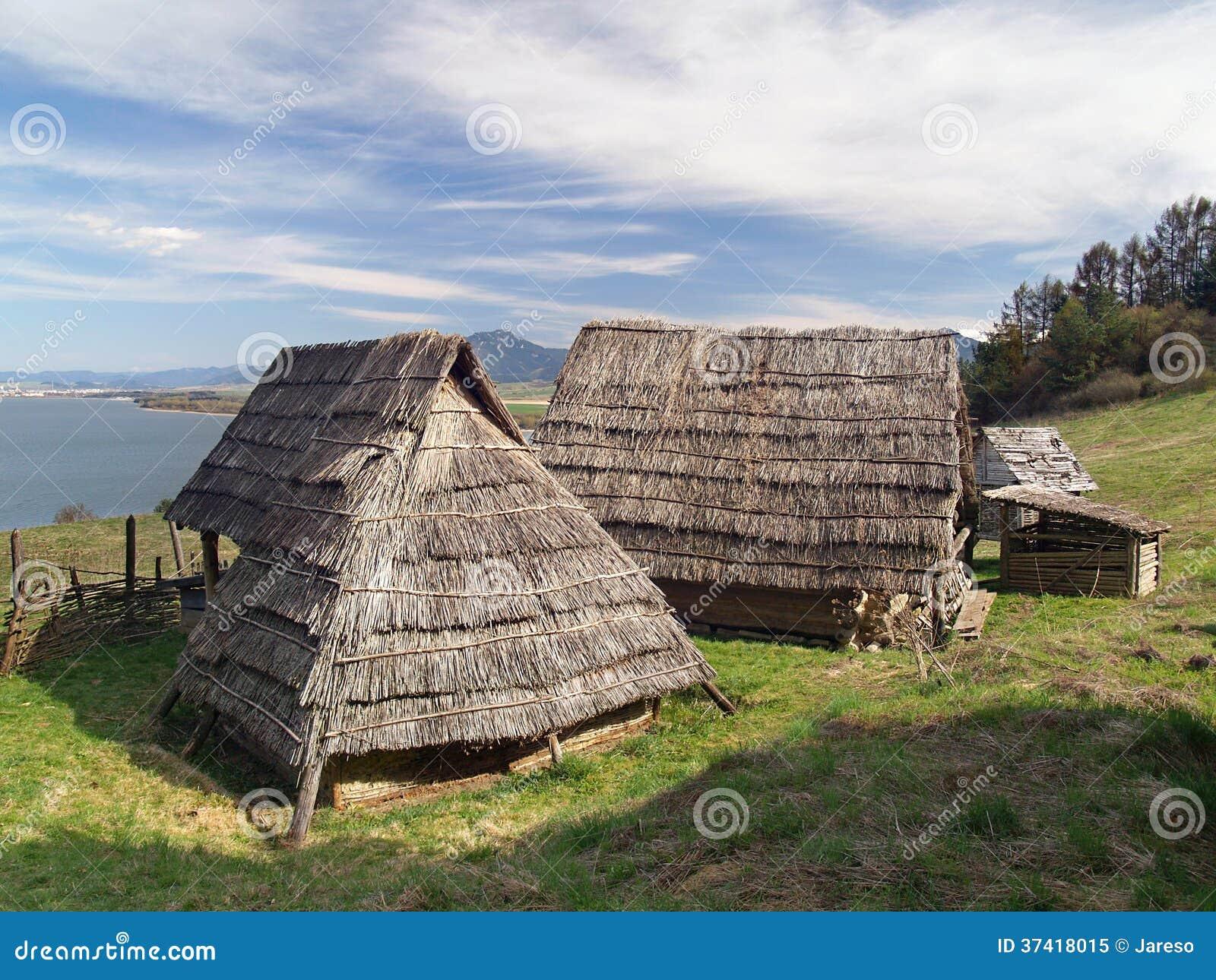 Keltische Häuser, Havranok Skansen, Slowakei