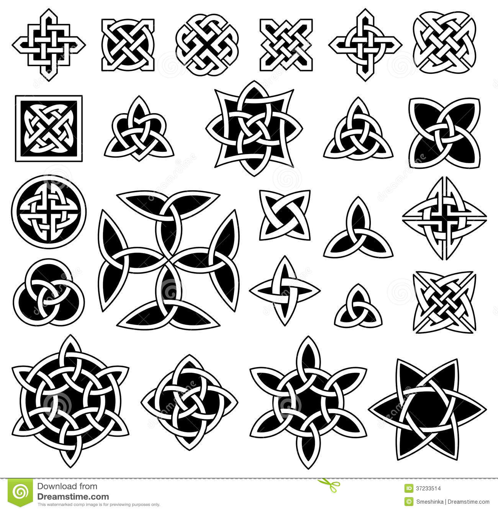 24 keltische knoten vektor abbildung bild von symmetrisch. Black Bedroom Furniture Sets. Home Design Ideas