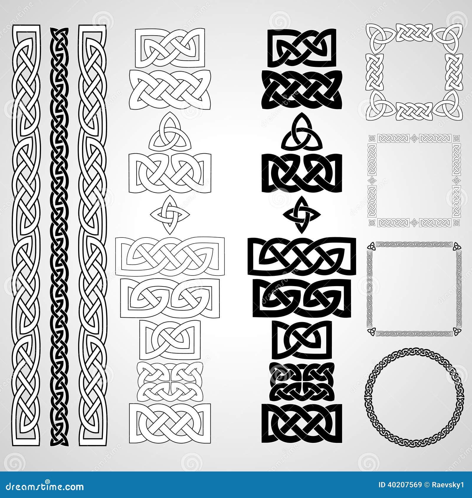 Keltische Knoten, Muster, Rahmen Vektor Abbildung - Illustration von ...