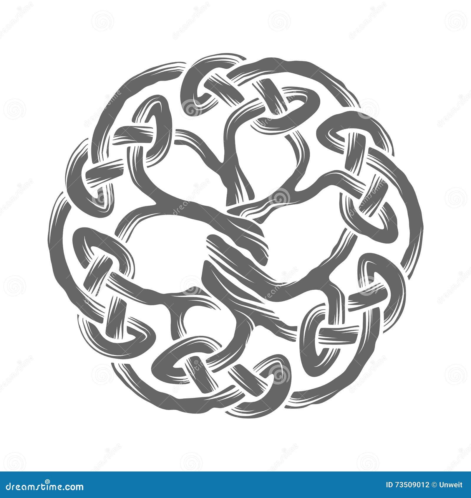 keltischer baum des lebens vektor abbildung bild von keltisch 73509012. Black Bedroom Furniture Sets. Home Design Ideas