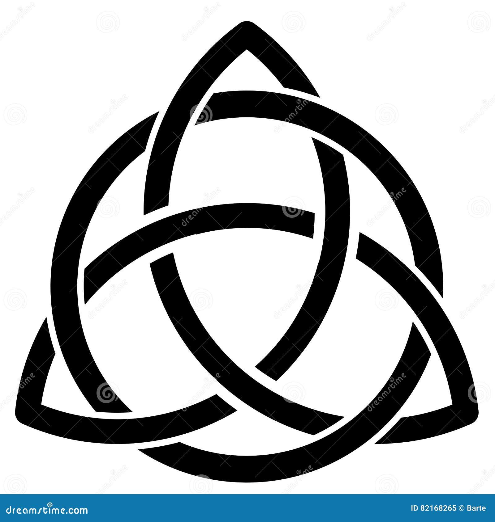 Keltisches Symbol Auf Weiß Vektor Abbildung Illustration Von Weiß