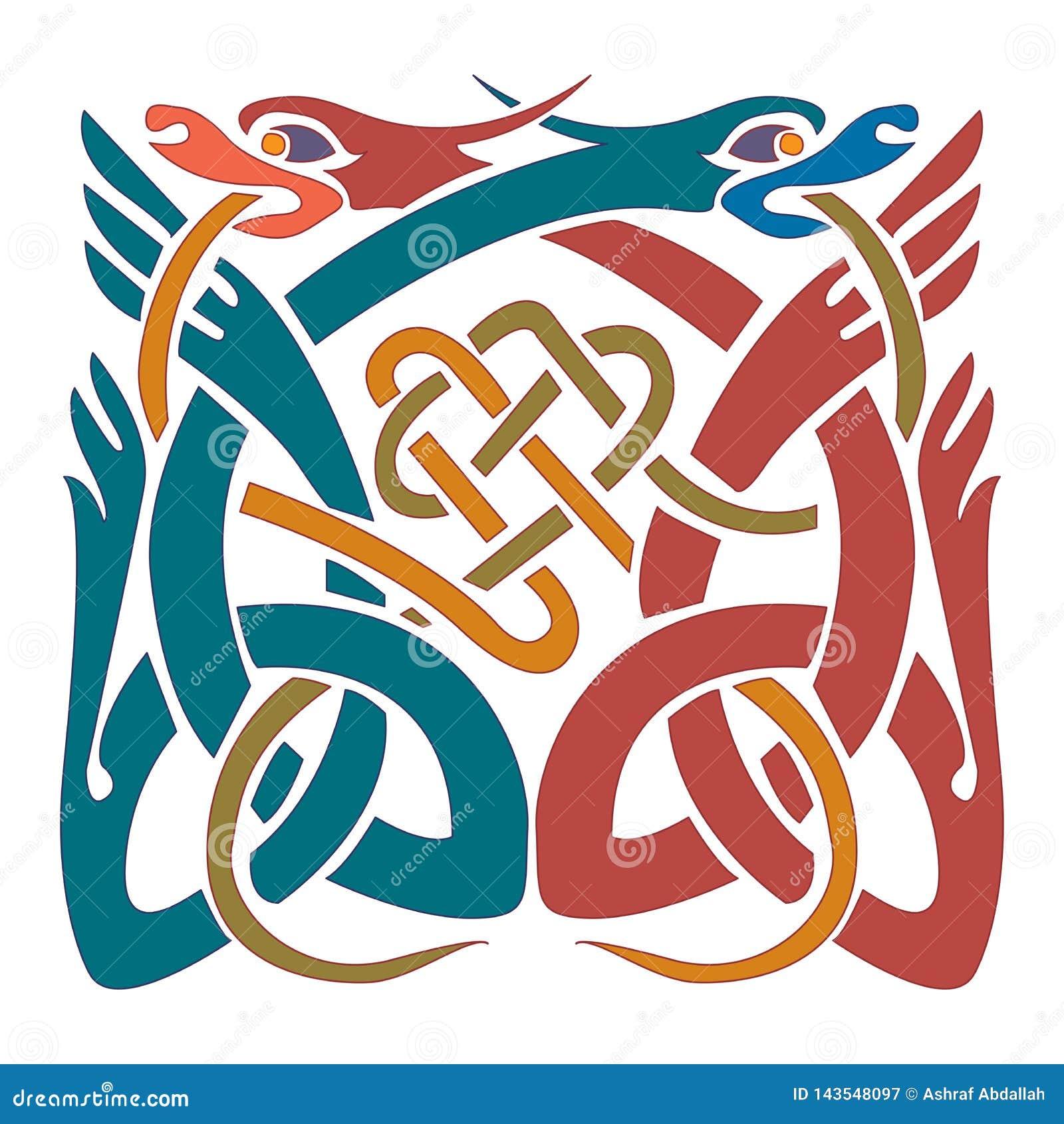 Keltisk prydnad - illustrationdesigner