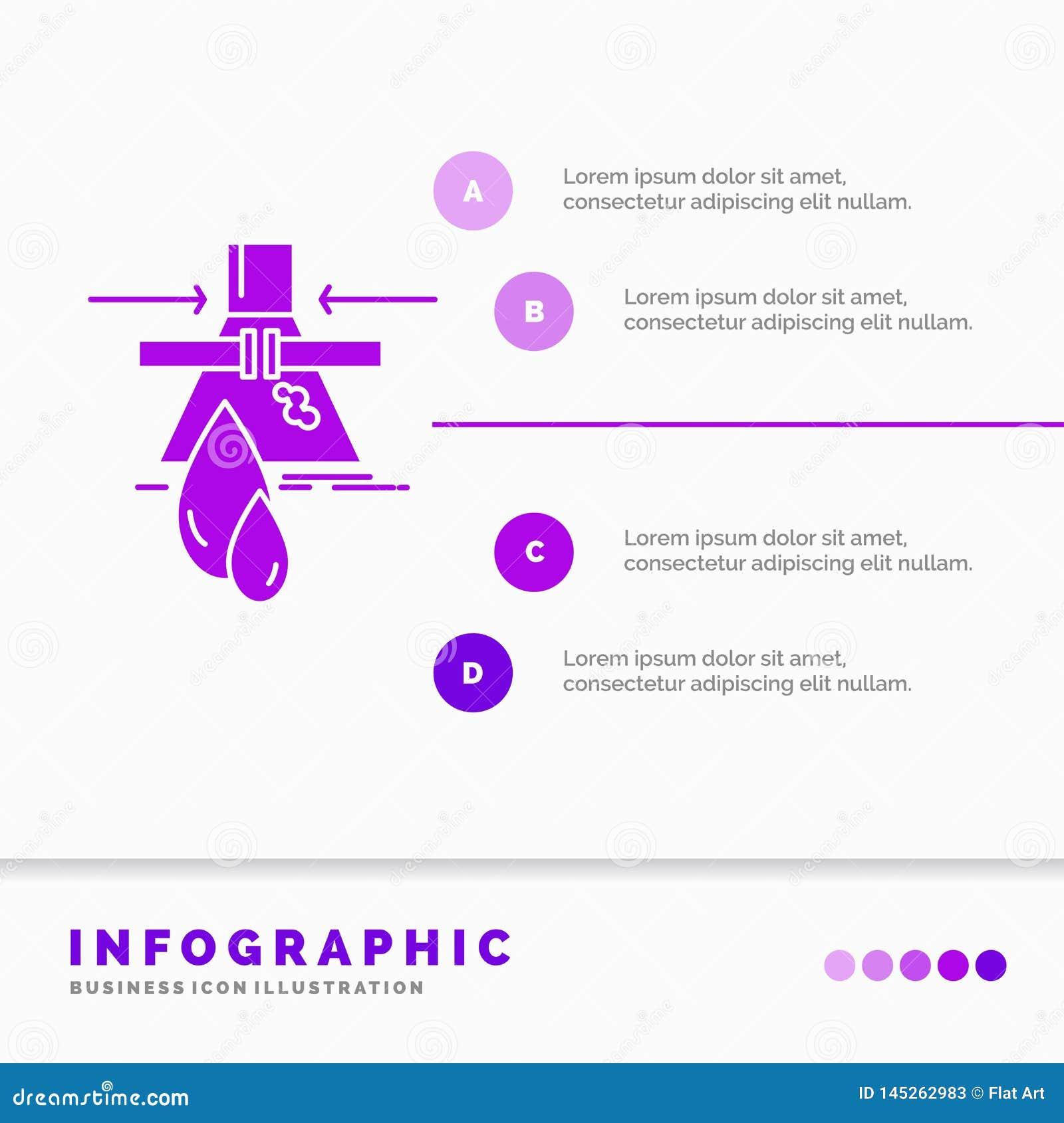 Kemikalie, läcka, upptäckt, fabrik, föroreningInfographics mall för Website och presentation Infographic sk?ralilasymbol