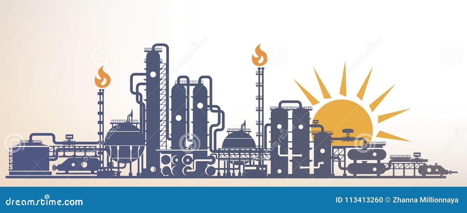 Kemikalie petrokemiskt eller bearbetningsanläggning