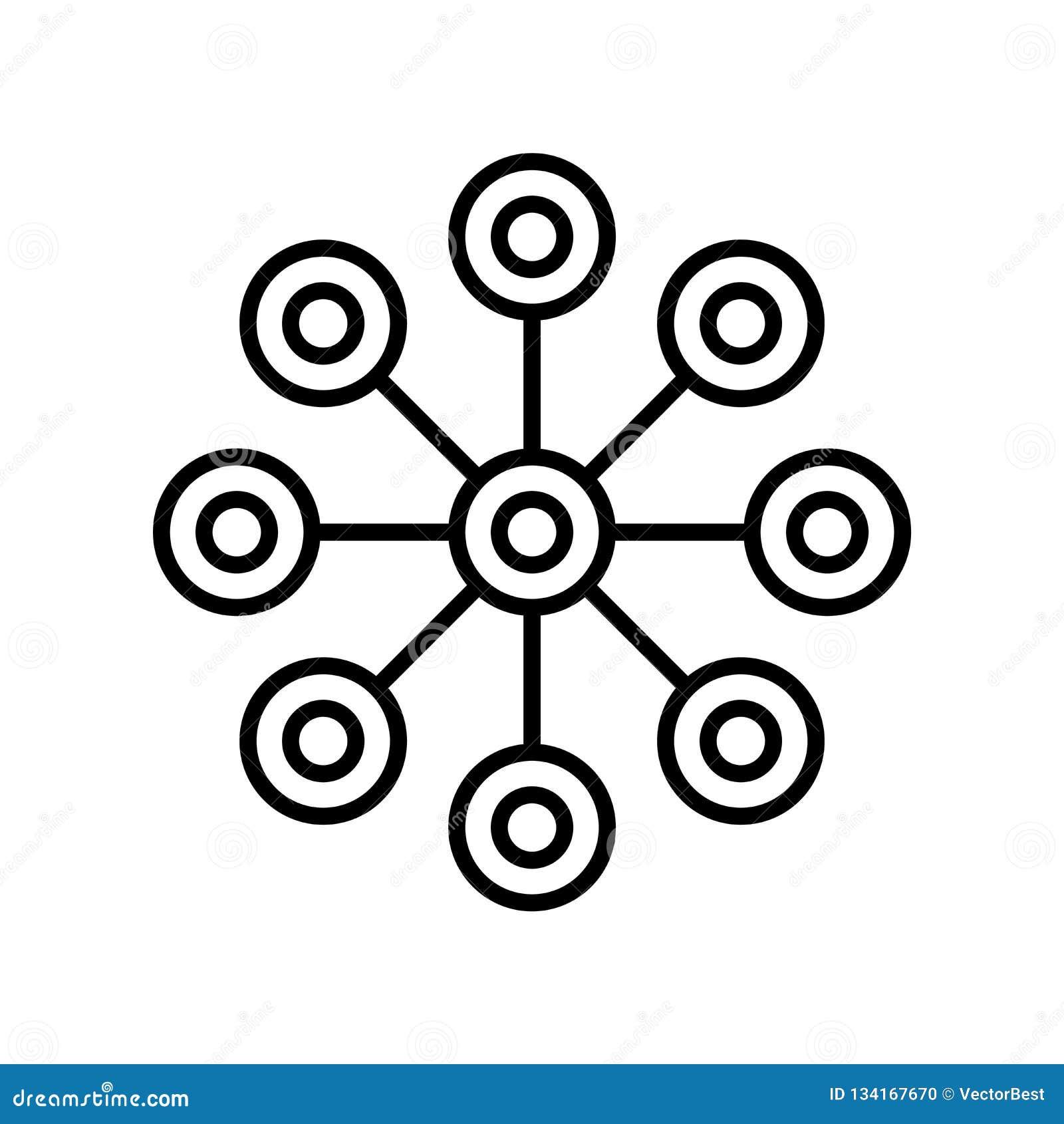 Kemisk diagramsymbolsvektor som isoleras på vit bakgrund, kemiskt diagramtecken, tunn linje designbeståndsdelar i översiktsstil
