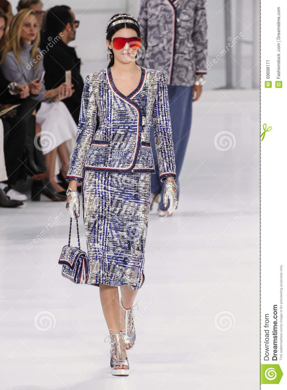 972fa0b3ba63 Kendall Jenner Walks The Runway During The Chanel Show Editorial ...