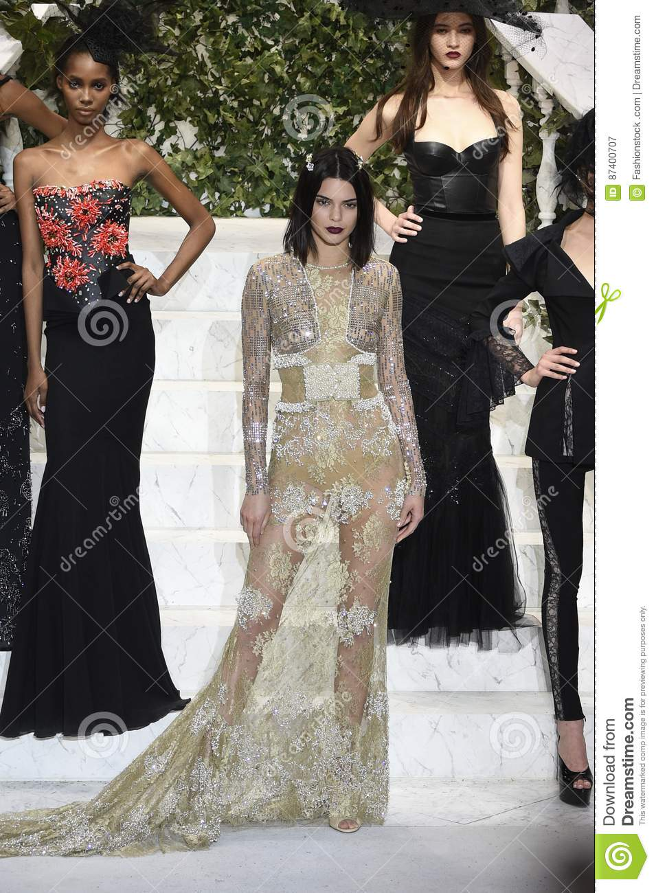 Kendall Jenner Walks The Runway At La Perla Fashion Show Editorial Photography Image Of Jenner February 87400707