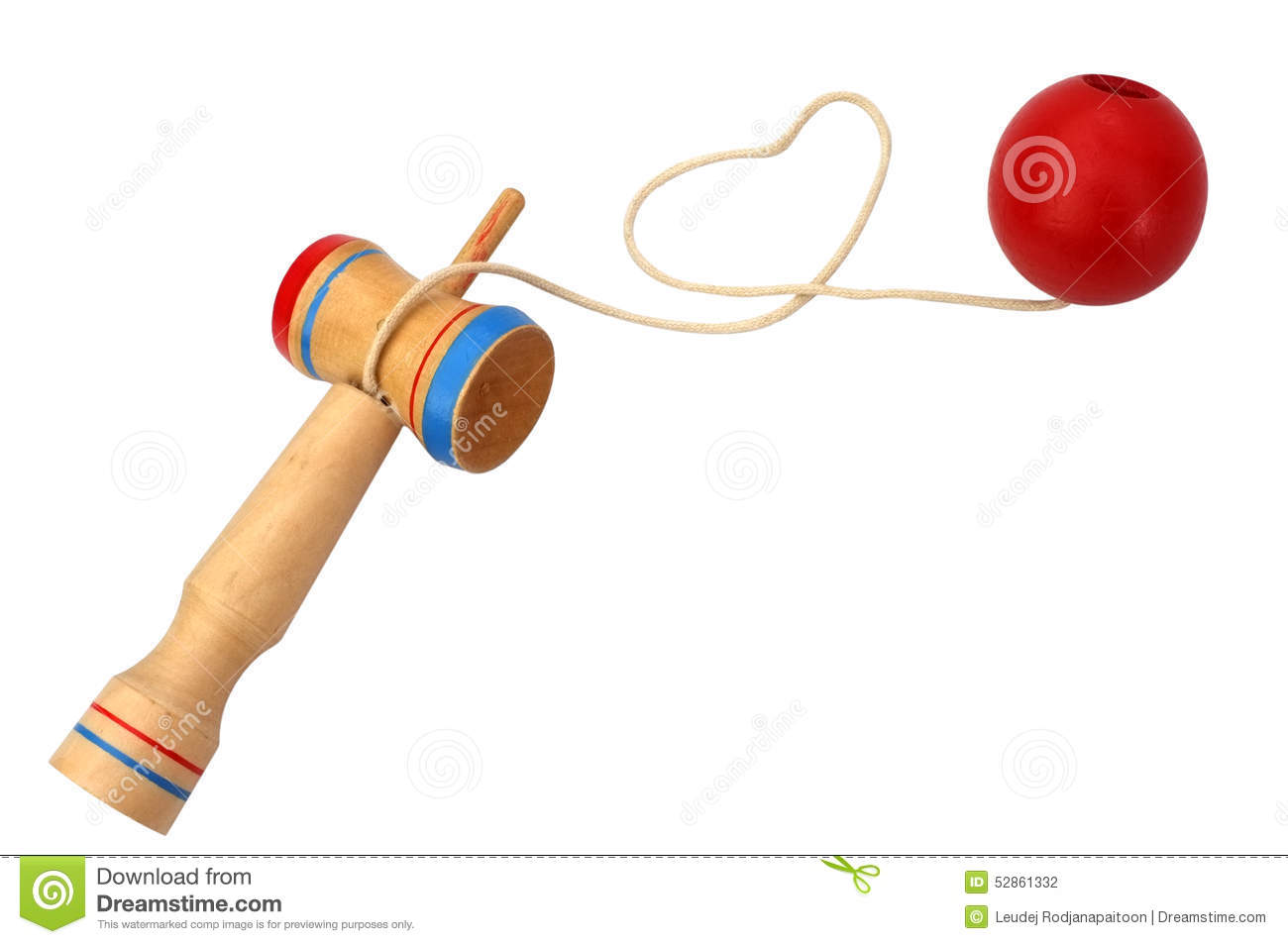 kendama, a traditional japanese toy consisting of a sword