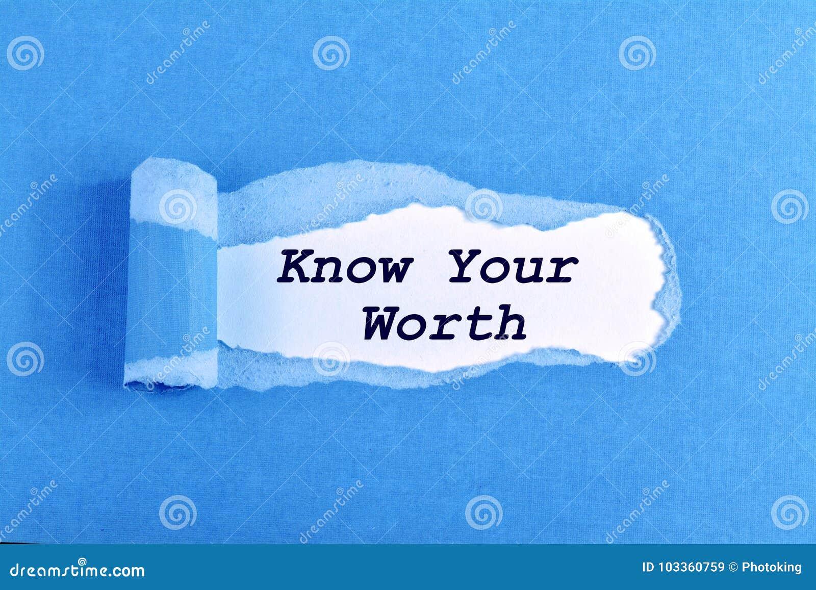 Kennen Sie Ihren Wert