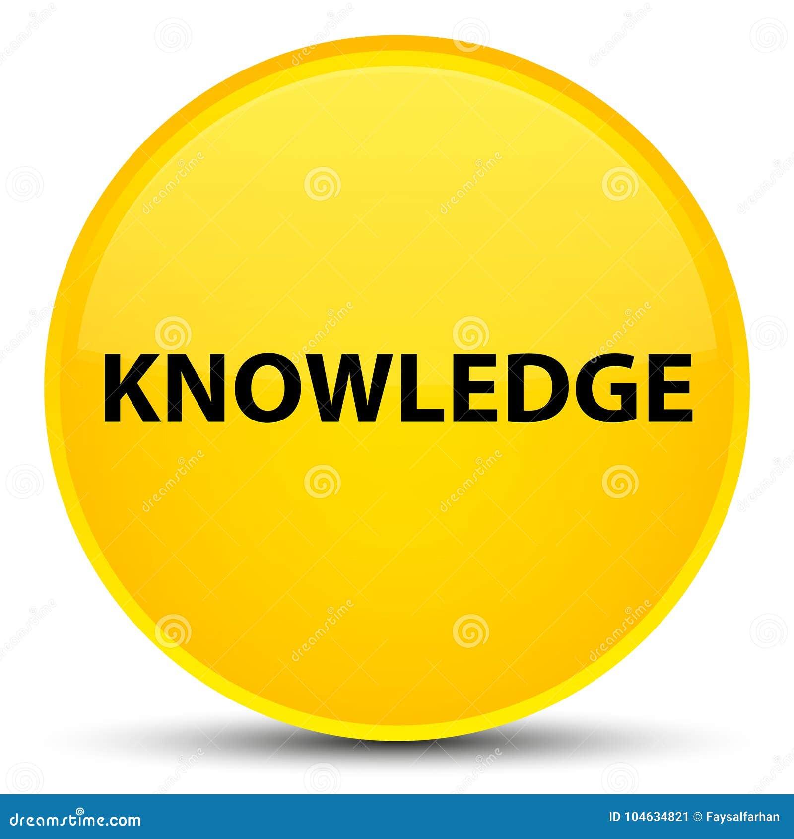 Download Kennis Speciale Gele Ronde Knoop Stock Illustratie - Illustratie bestaande uit tekst, knoop: 104634821