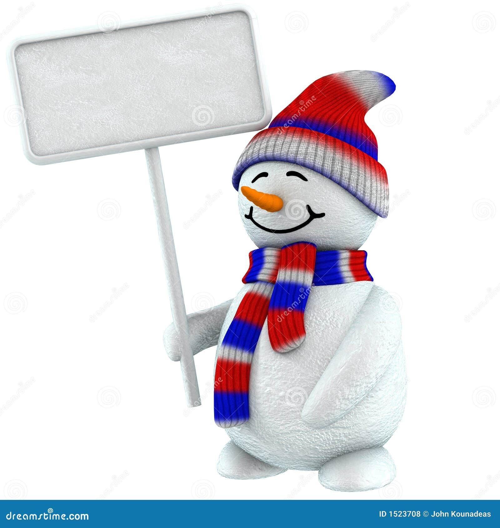 Kennsatz des Schneemanns 3d