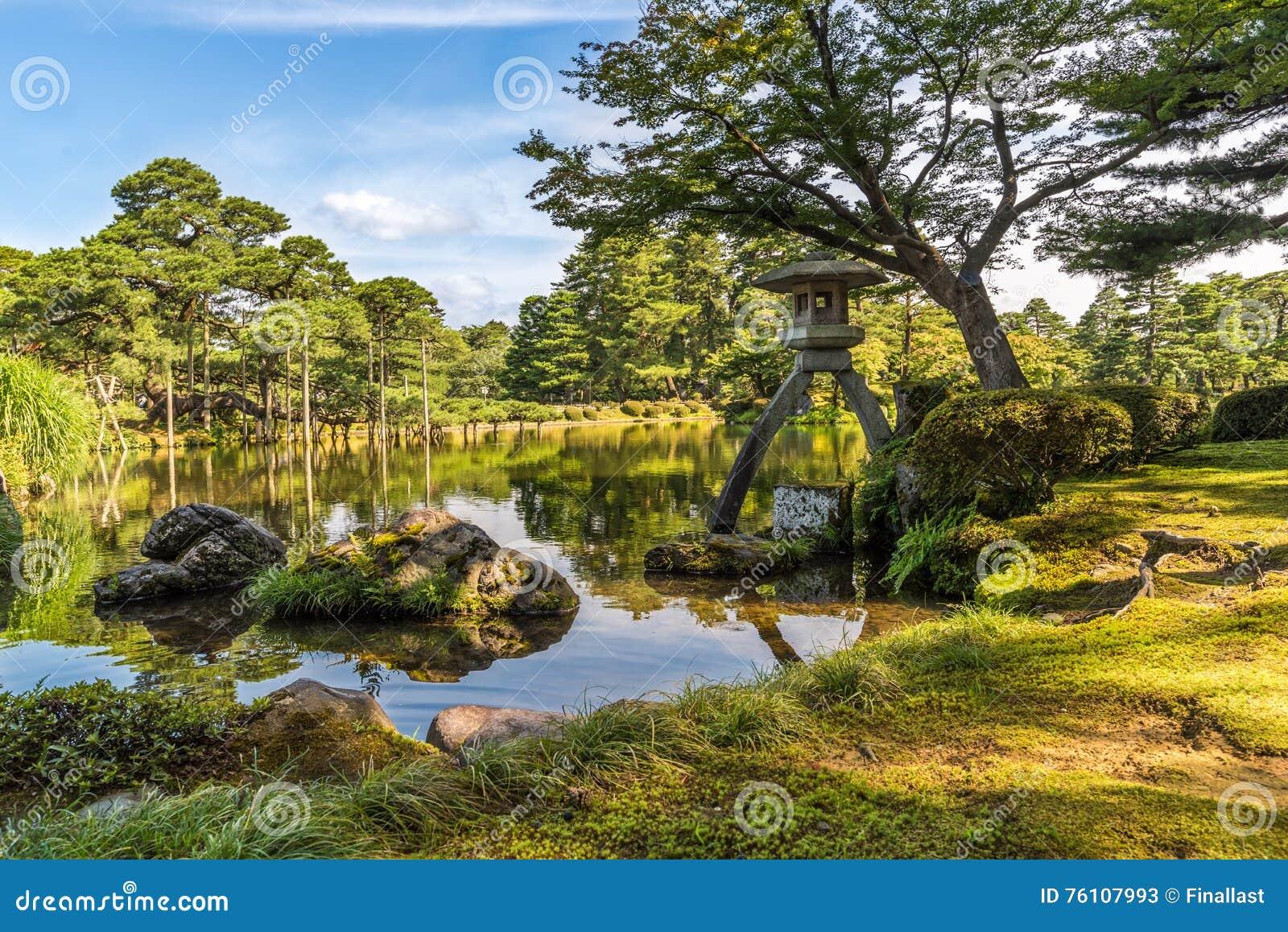 Kenroku En Garden Kanazawa Ishikawa Japan Stock Photo