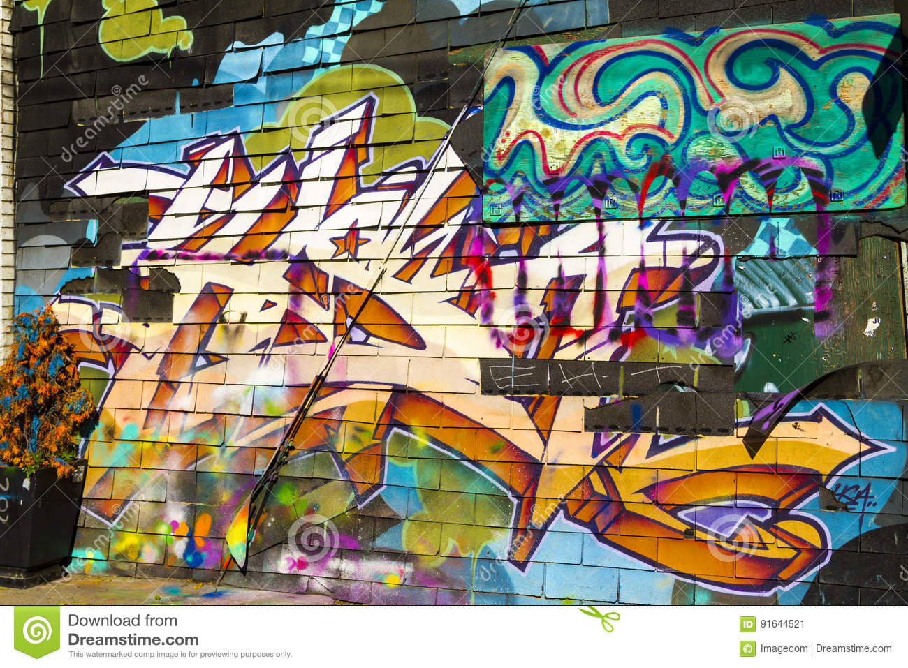 Kensington Market Graffiti Toronto Canada Editorial Photo