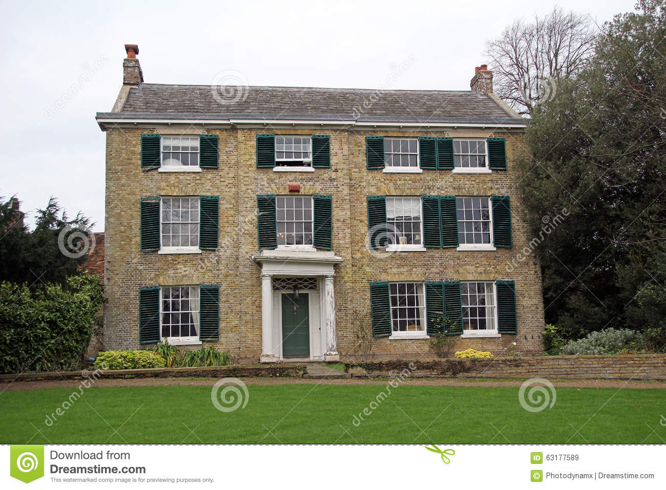 Georgian Style House Plans Kent Georgian Period Manor House Stock Photo Image 63177589