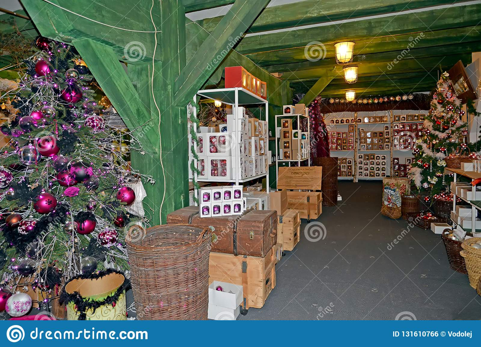 Kentshin Poland A Christmas Tree Decorations Warehouse Shop In