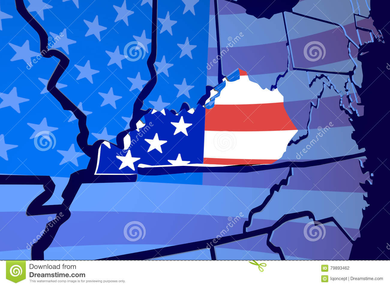 Kentucky KY State Map USA United States America Flag 3d Illustration on black kentucky map, funny kentucky map, cartoon kentucky map, print kentucky map, 3d kentucky flag, 3d kentucky outline, 3d kentucky poster, hd kentucky map,