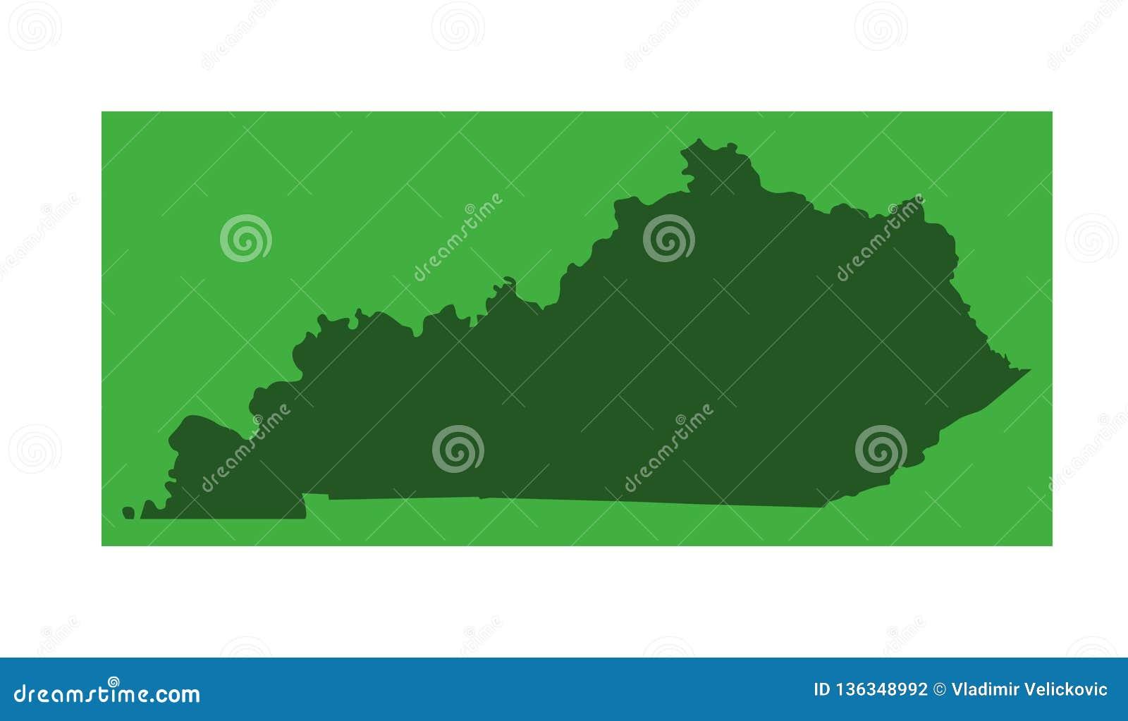 Kentucky Map - Commonwealth Of Kentucky Stock Vector - Illustration ...