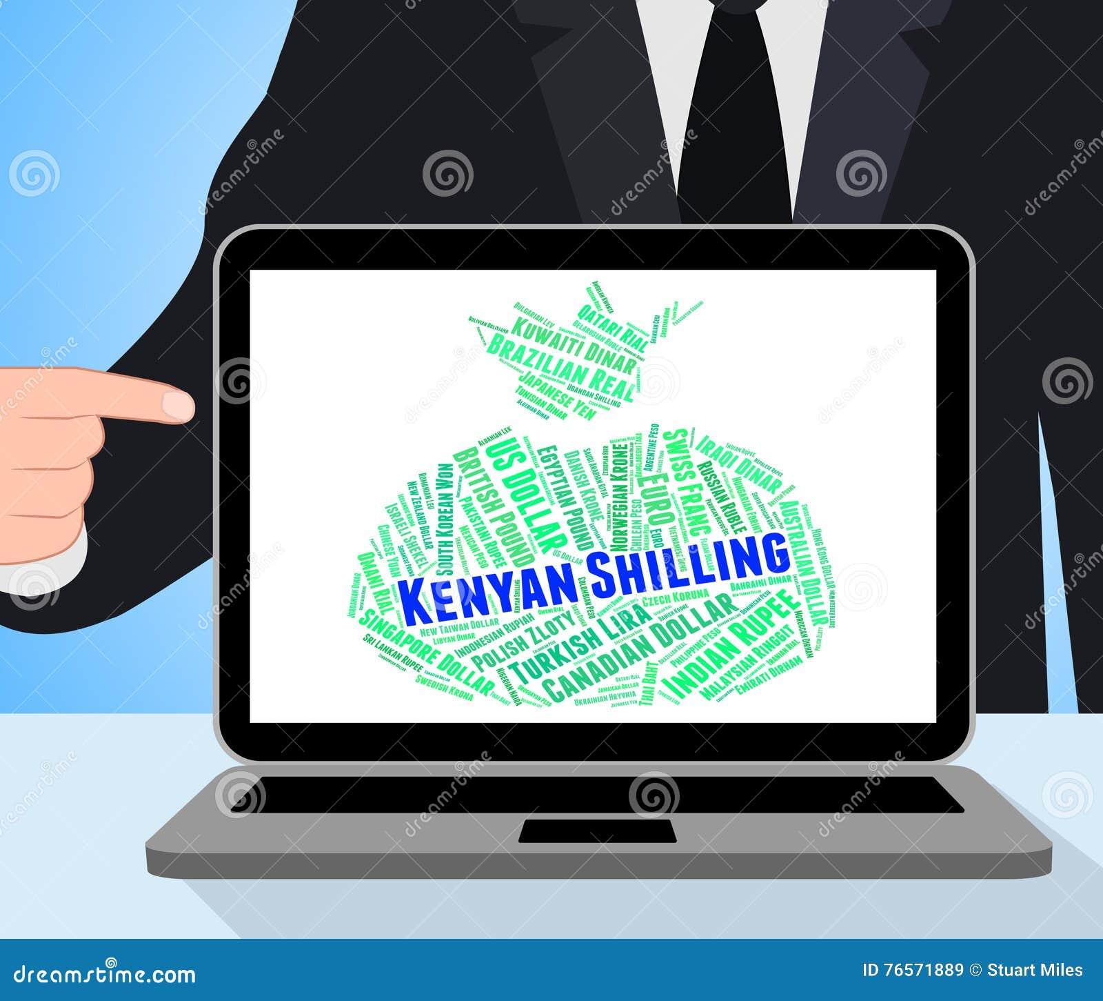 Kenyan Shilling Represents Foreign Currency y billete de banco