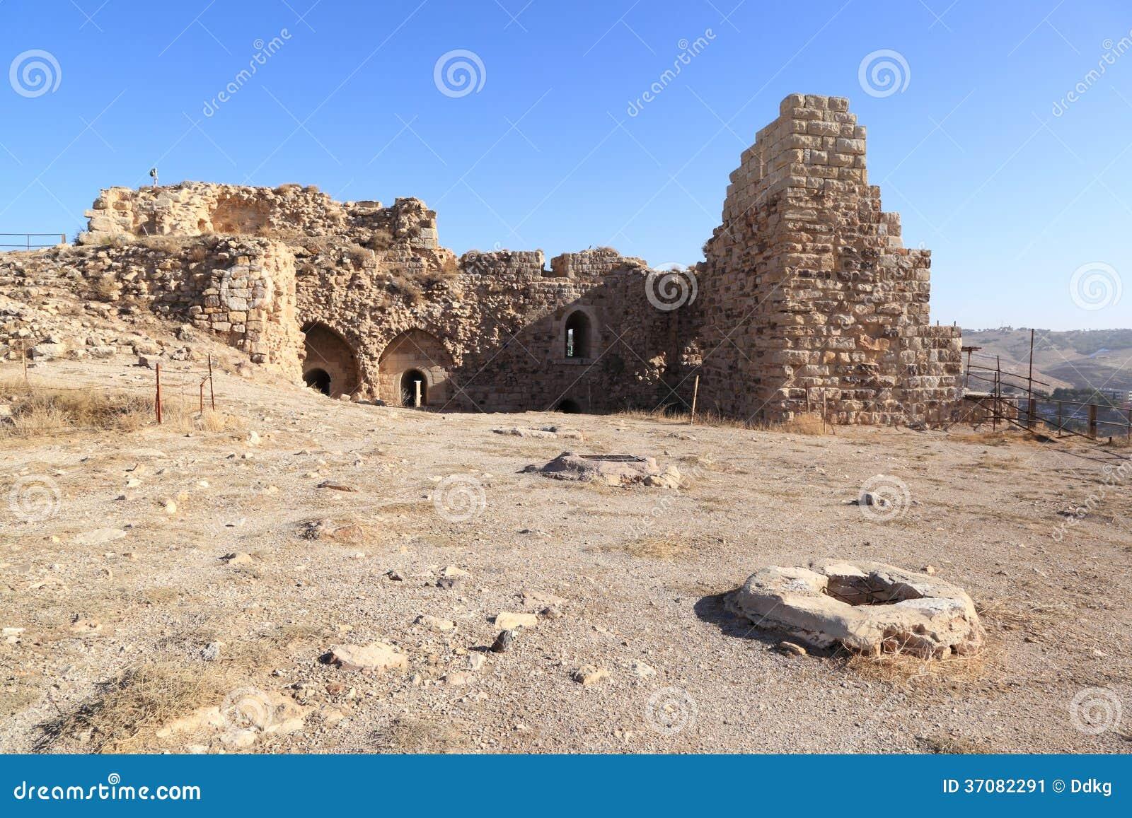 Download Kerak Krzyżowa Forteca, Jordania Obraz Stock - Obraz złożonej z wschód, turystyka: 37082291