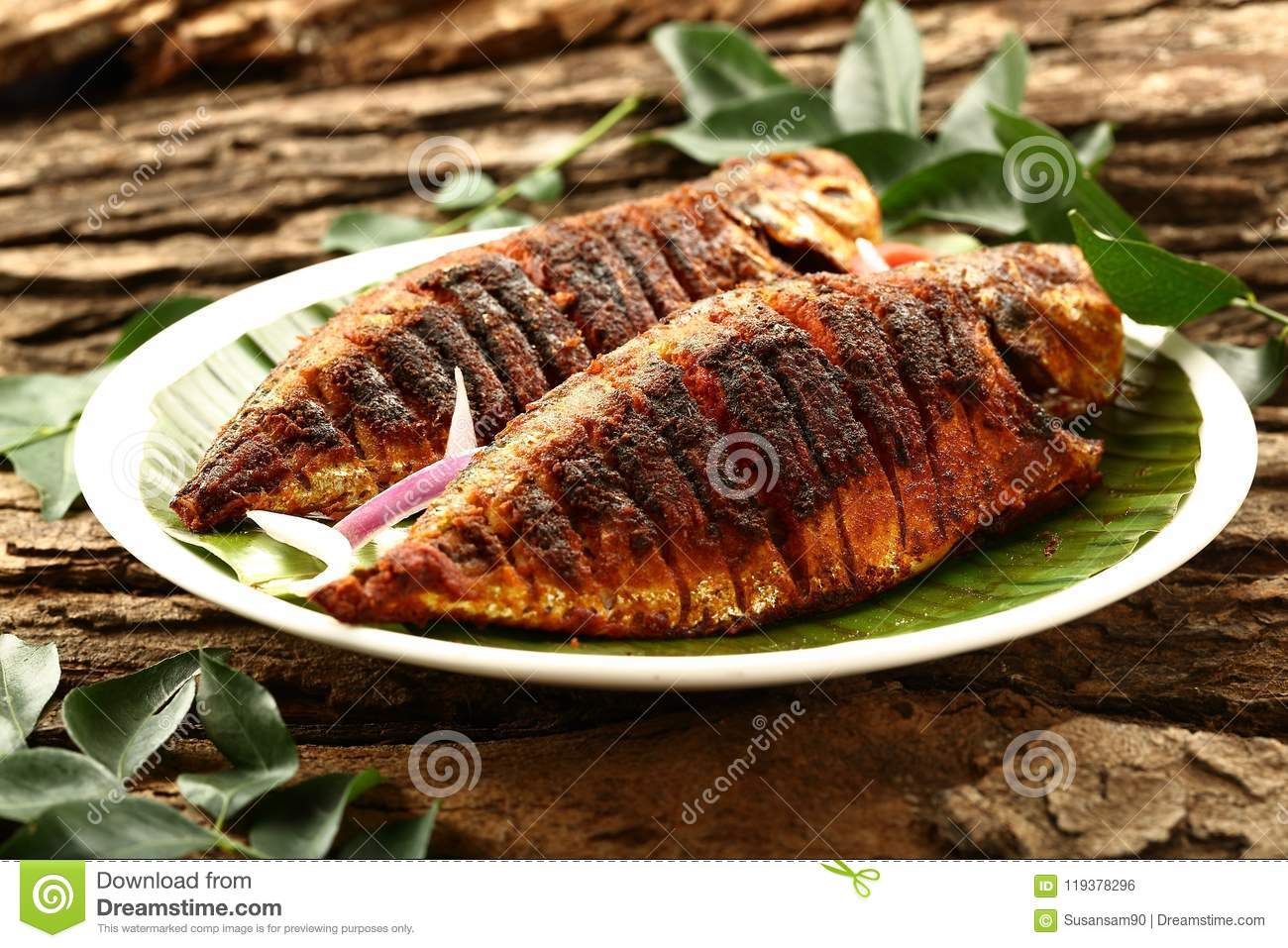 Kerala food homemade fish fry authentic recipe stock photo download comp forumfinder Gallery