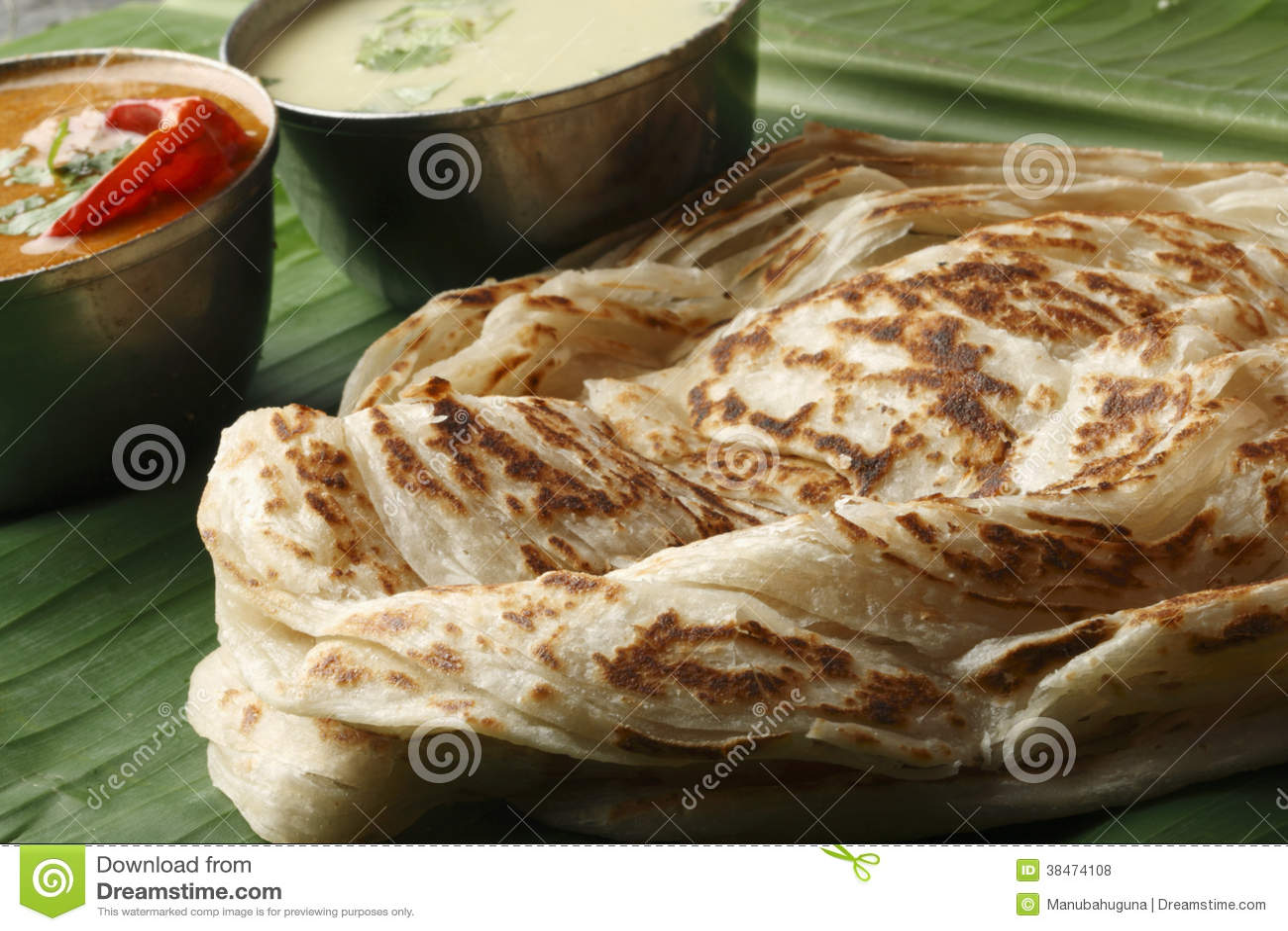 Kerala Paratha - płatowaty flatbread od Kerala