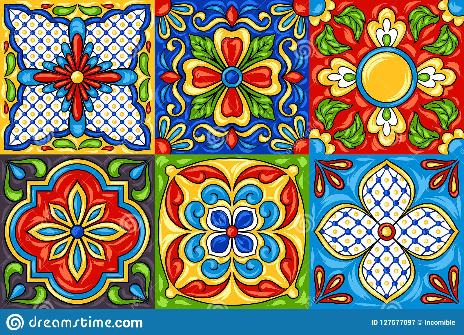 Keramikziegelmuster Mexikanertalaveras