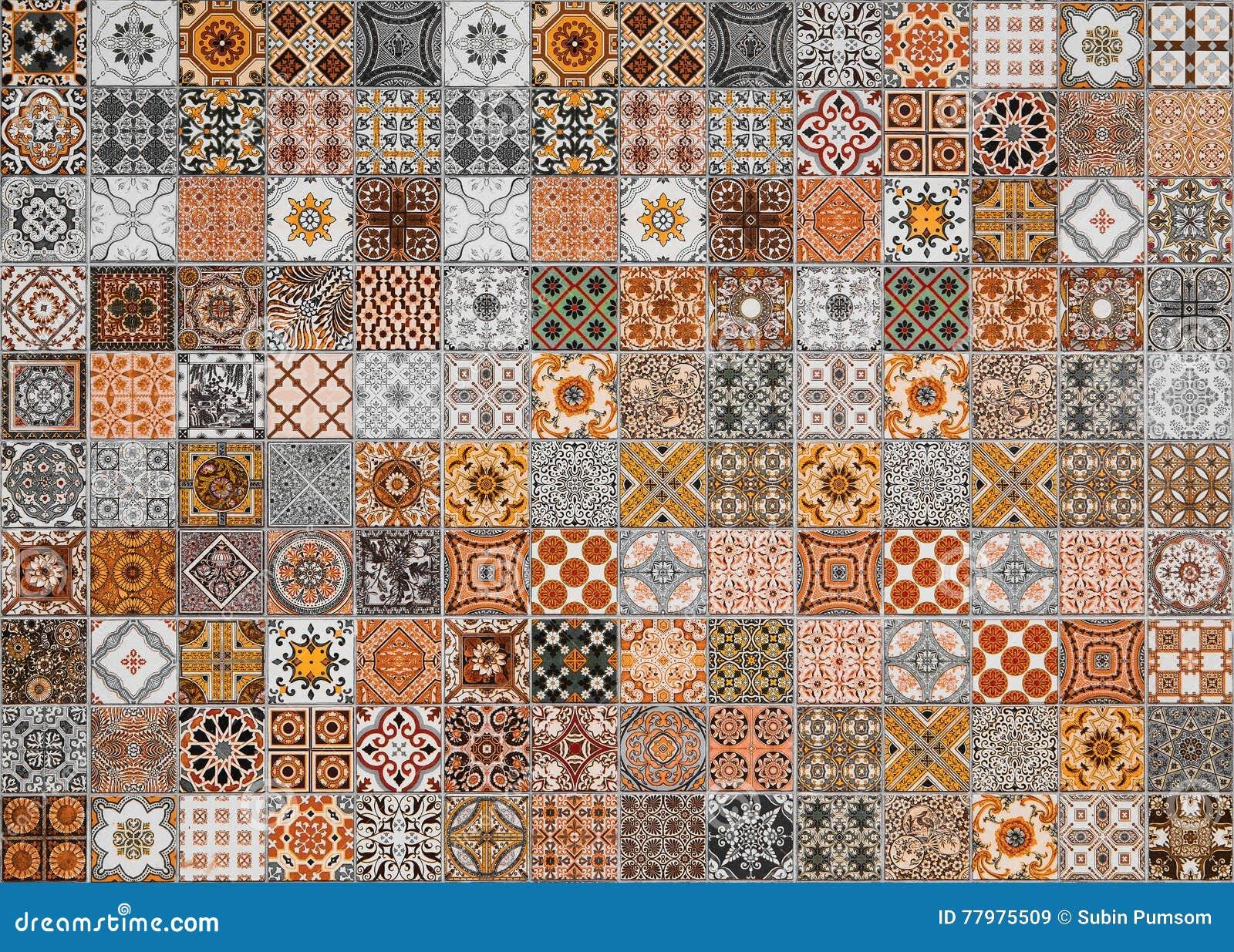 Keramische tegelspatronen van Portugal