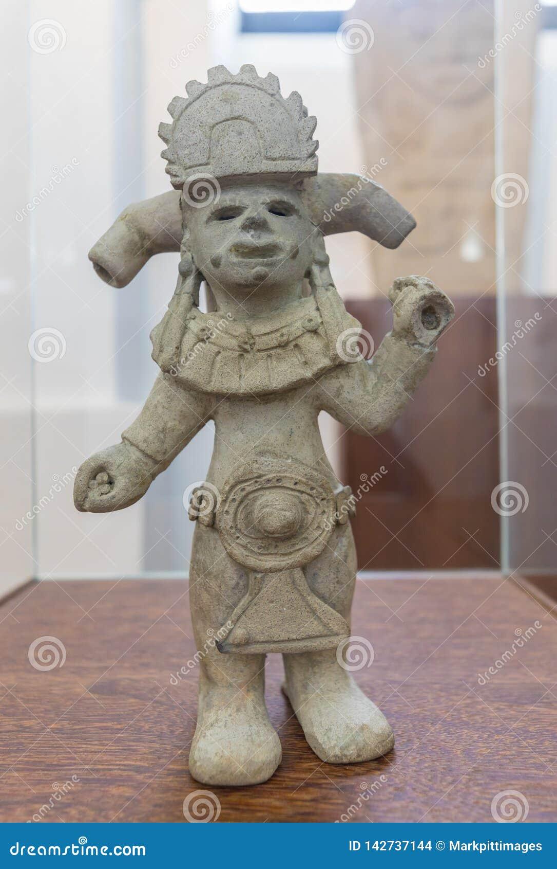 Keramiskt Bogota nationellt museum föreställa ett anthropomorphic diagram som finnas i Narino Colombia